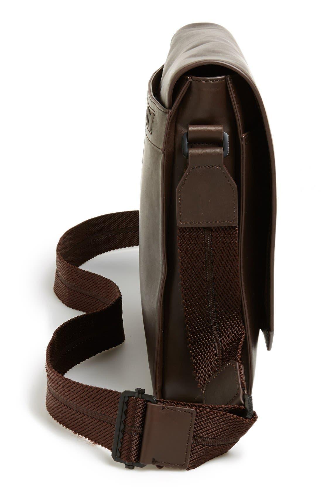 'Tolve' Leather Messenger Bag,                             Alternate thumbnail 5, color,                             210