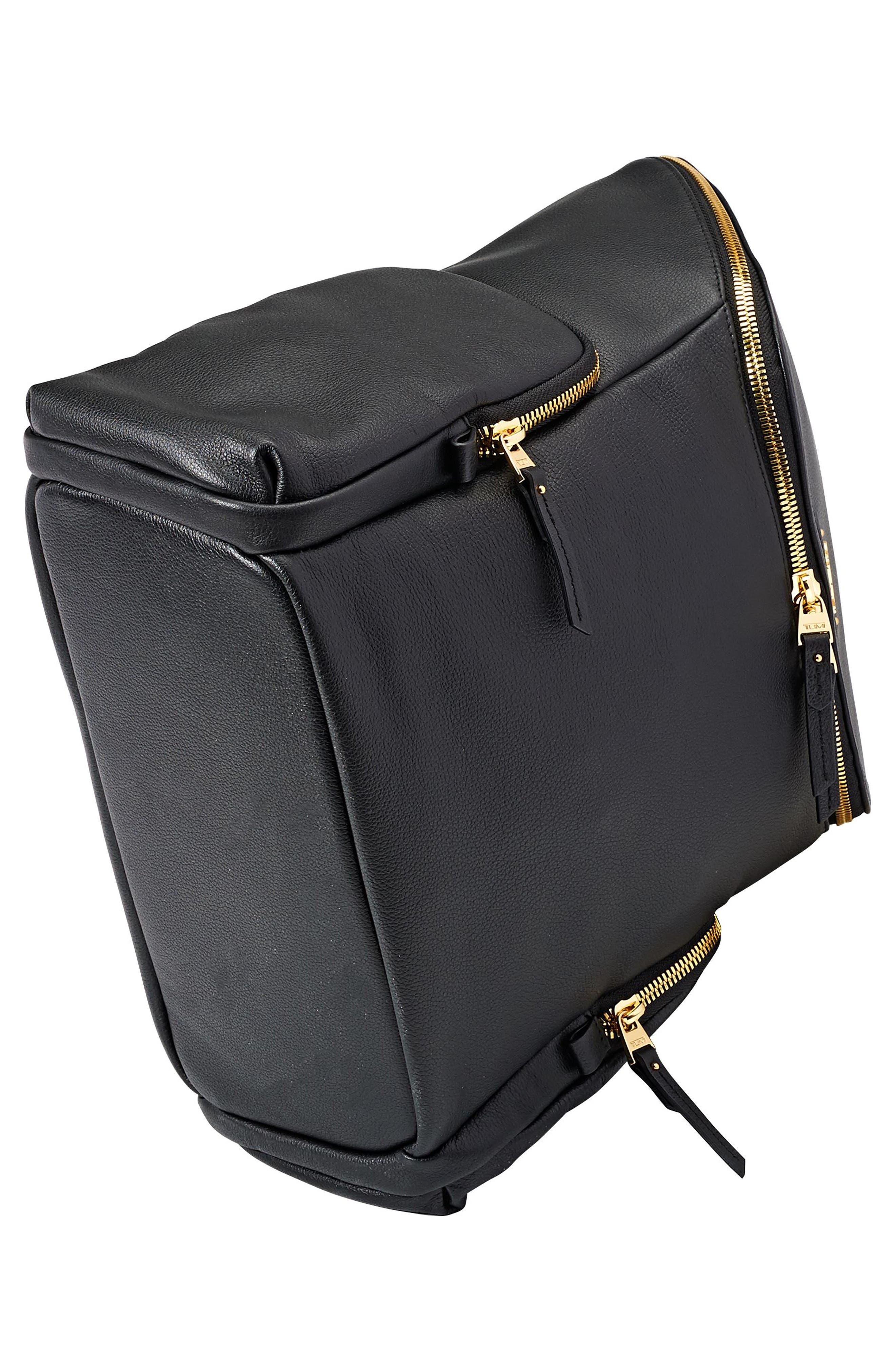 Voyageur Lexa Leather Backpack,                             Alternate thumbnail 5, color,                             001