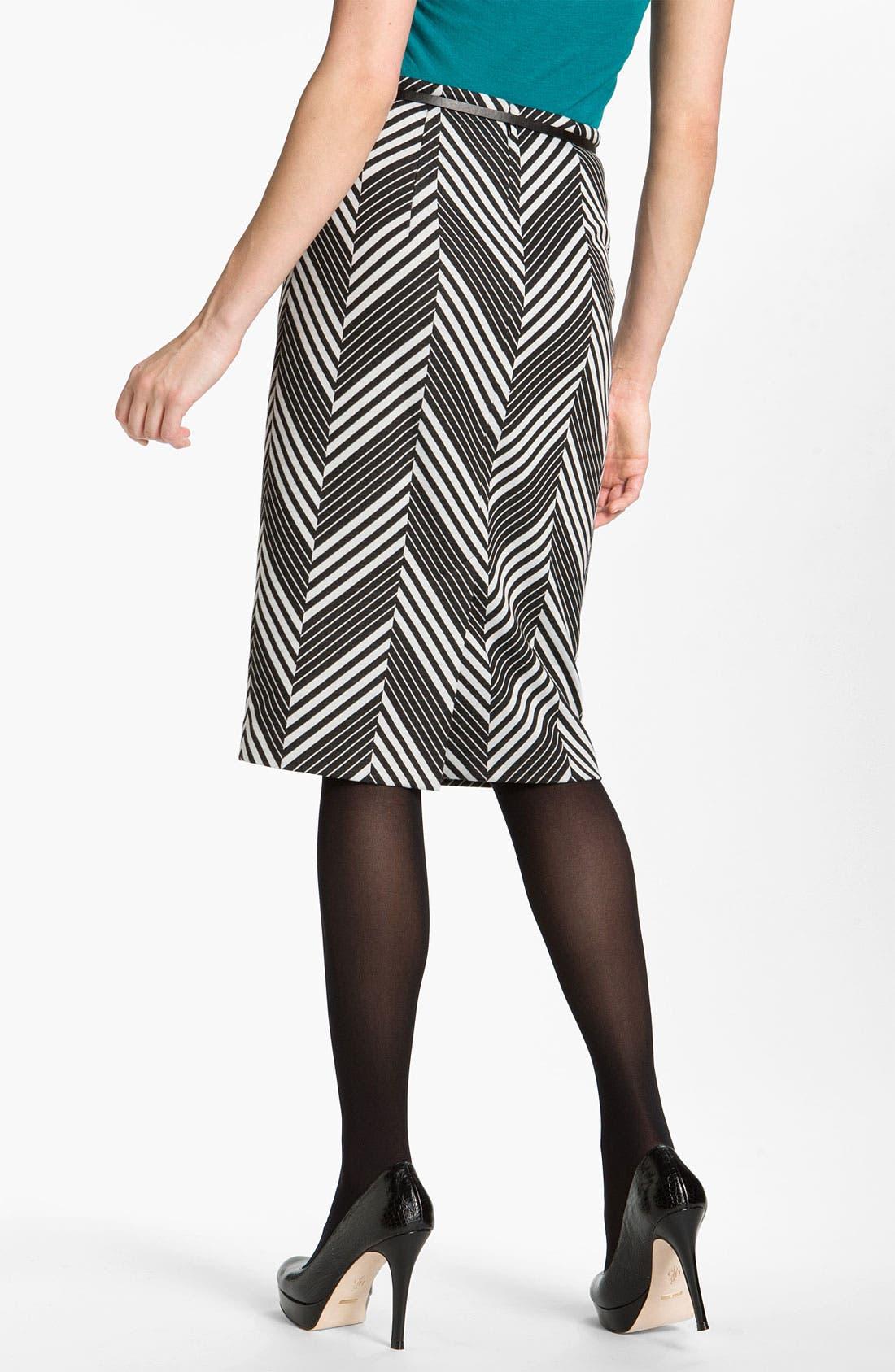 Belted Ponte Skirt,                             Alternate thumbnail 38, color,