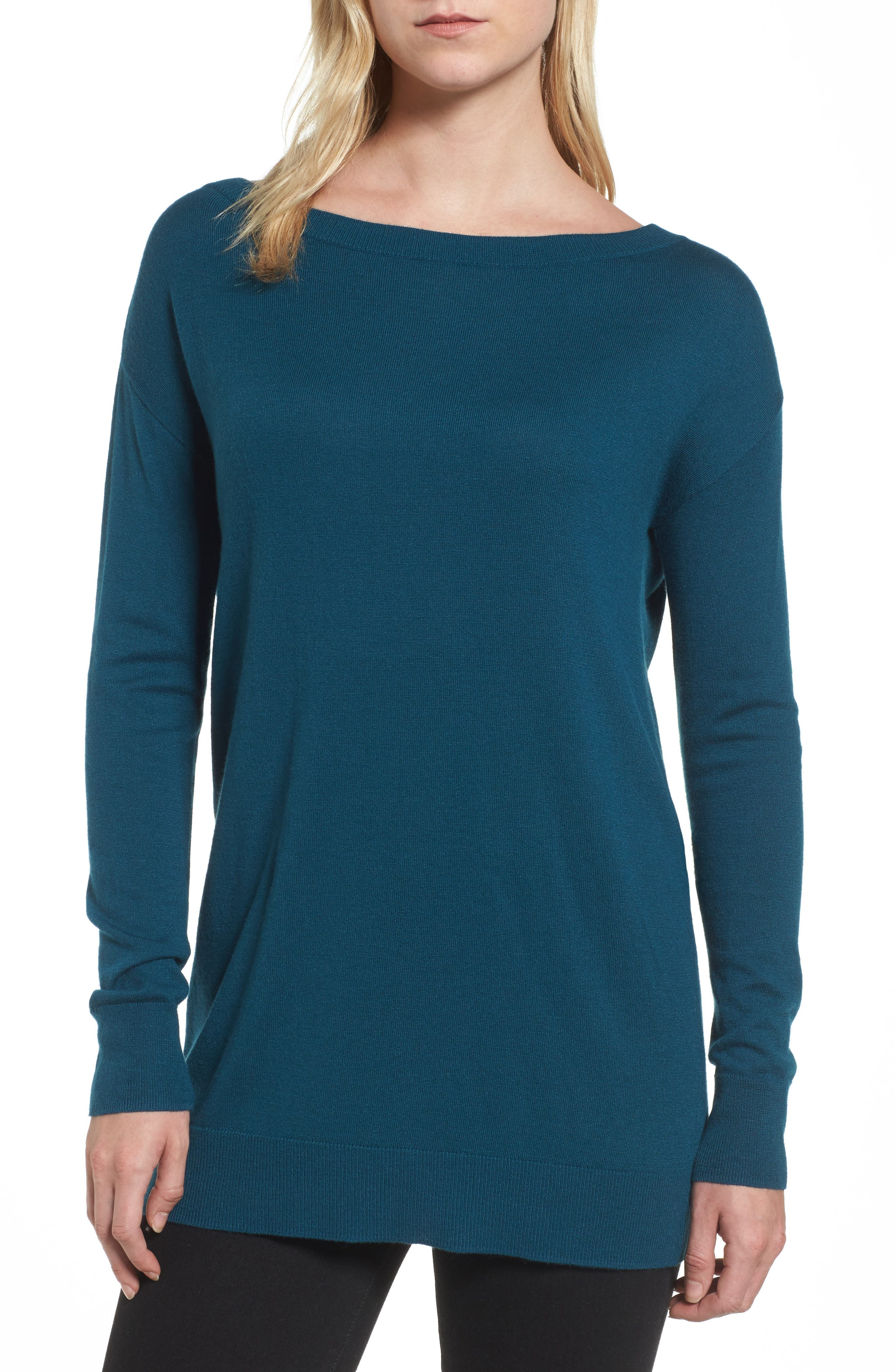 Boatneck Tunic Sweater,                             Main thumbnail 8, color,