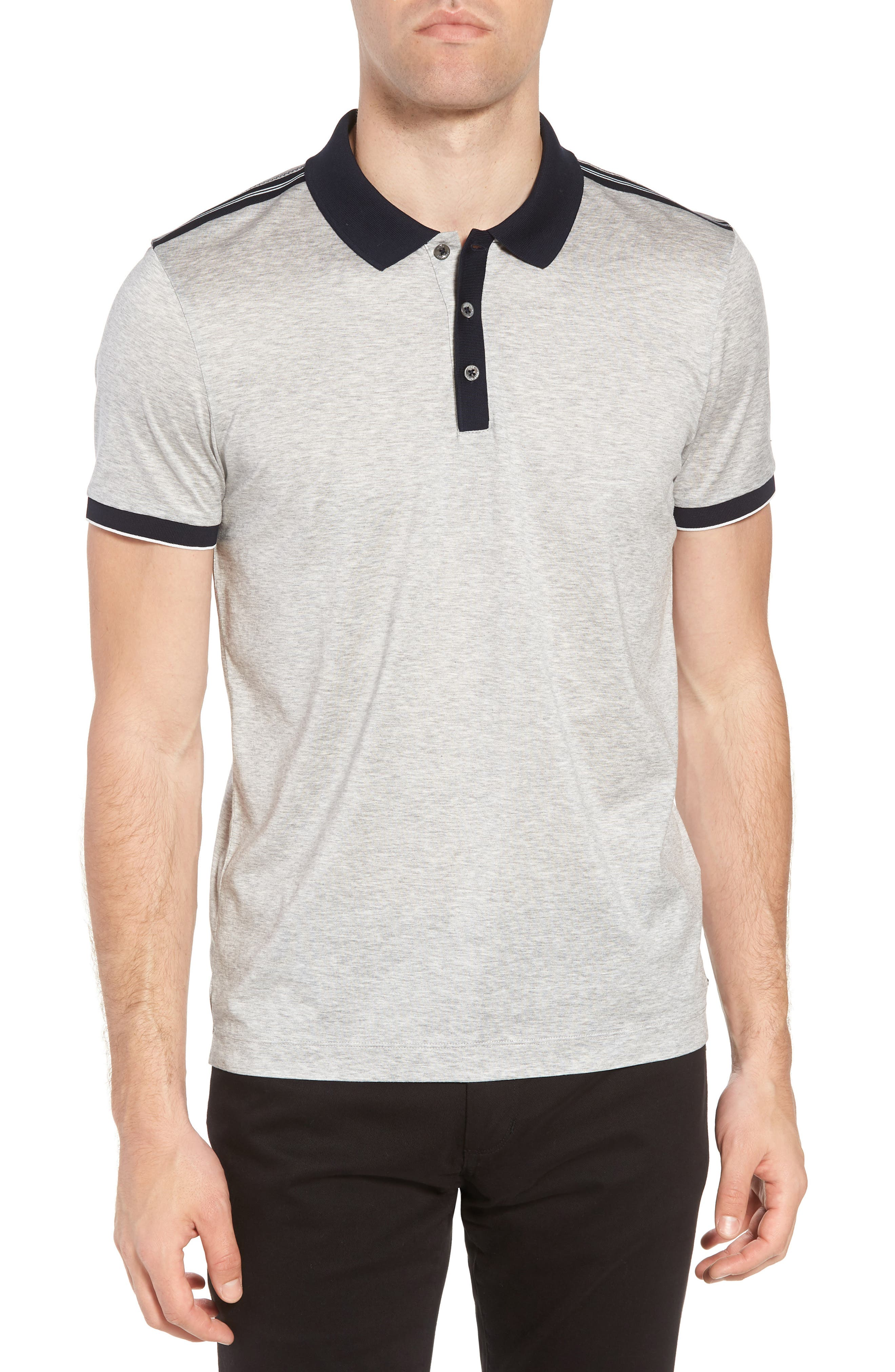 Slim Fit Phillipson Polo,                             Main thumbnail 1, color,                             GREY
