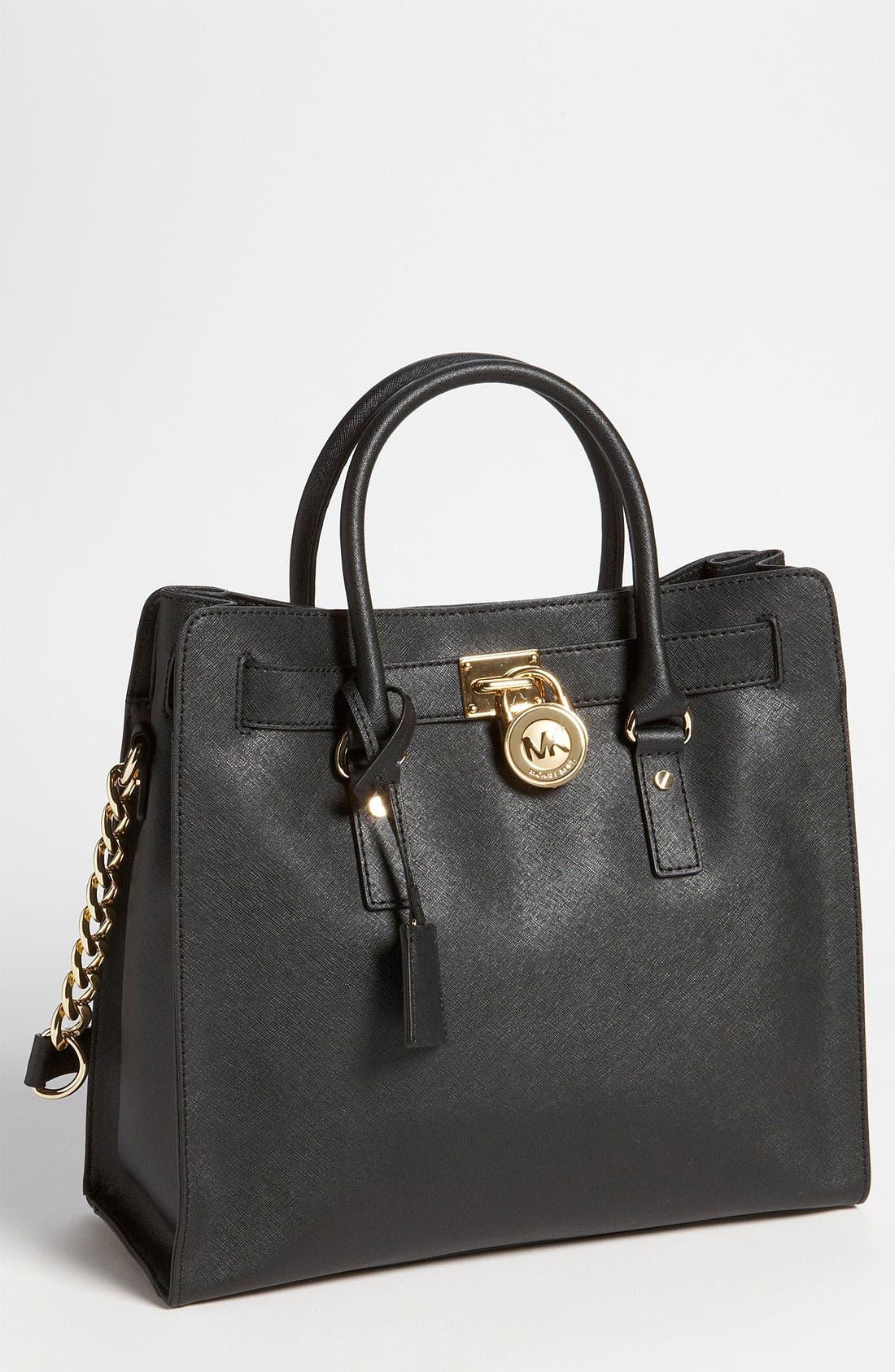 'Large Hamilton' Saffiano Leather Tote,                         Main,                         color, 001