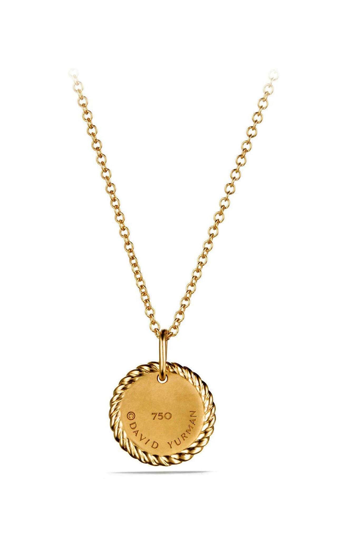 'Cable Collectibles' Pavé Charm with Diamonds in Gold,                             Alternate thumbnail 3, color,                             GOLD