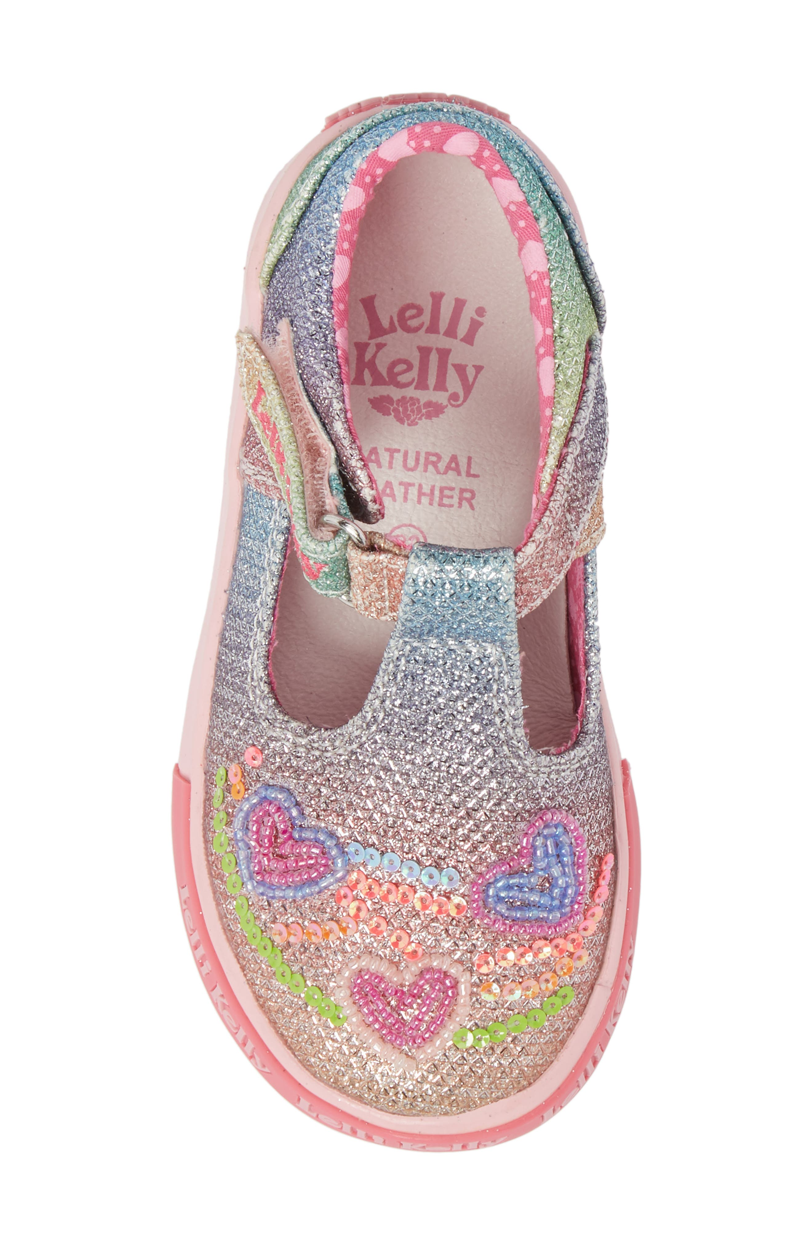 LELLI KELLY,                             Glitter Metallic T-Strap Mary Jane,                             Alternate thumbnail 5, color,                             320