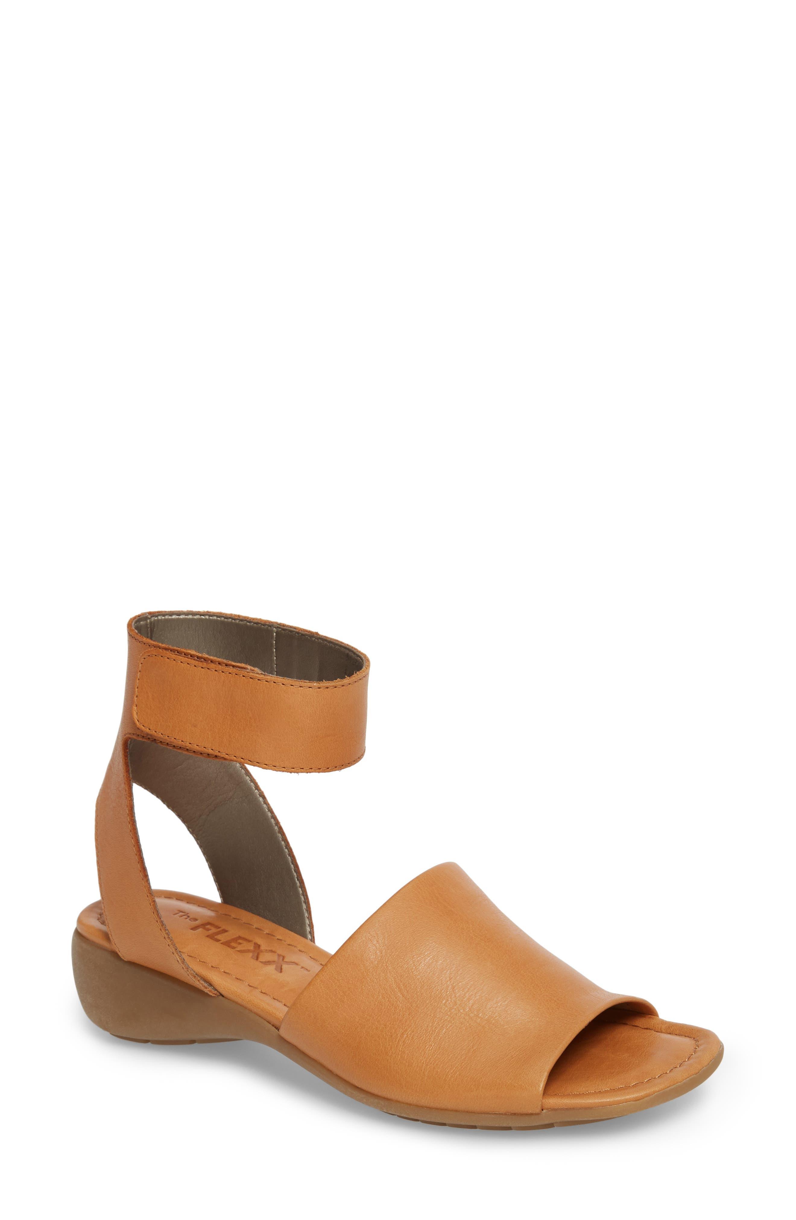 'Beglad' Leather Ankle Strap Sandal,                             Main thumbnail 3, color,