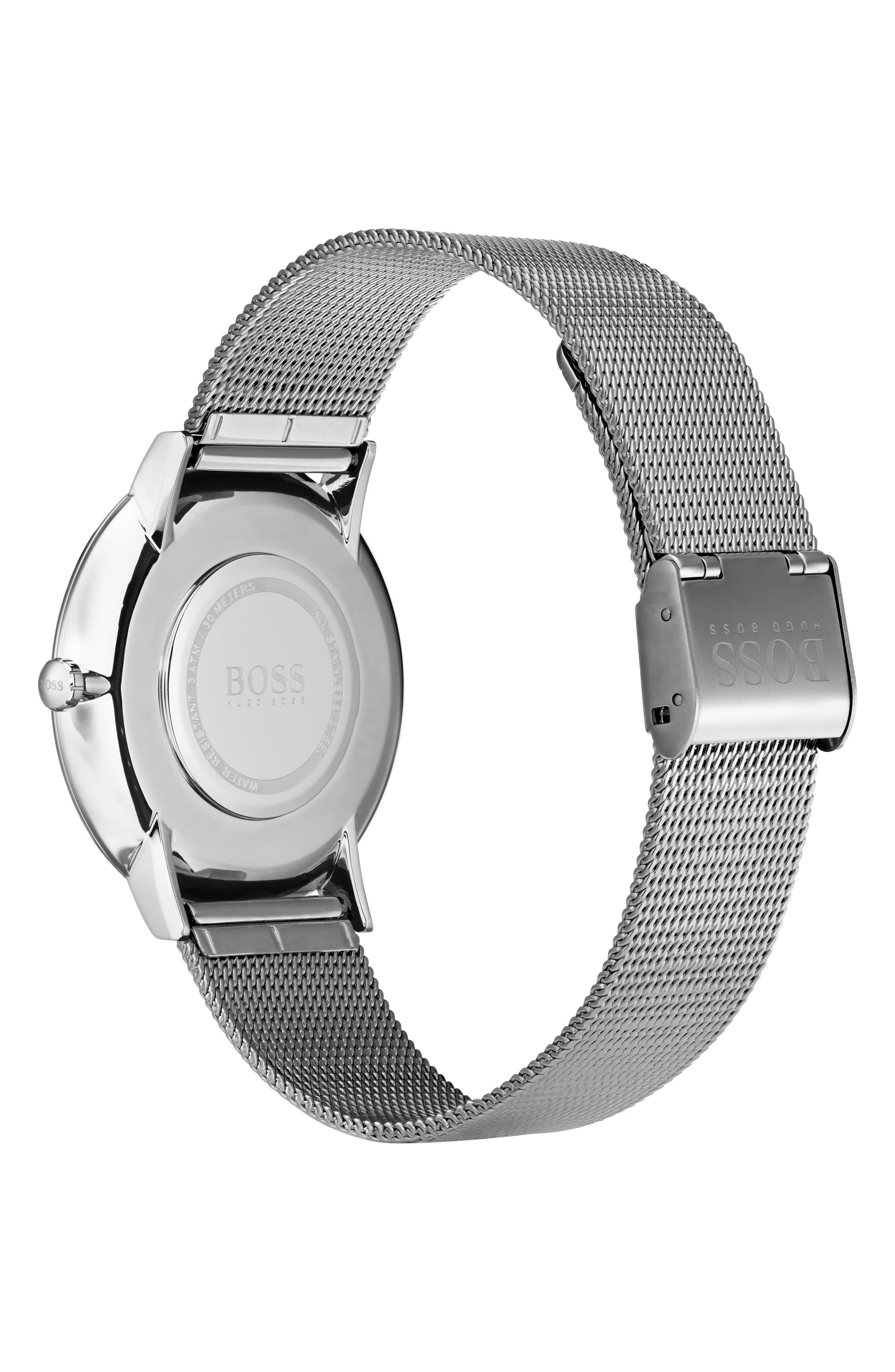 Essential Ultra Slim Bracelet Watch, 40mm,                             Alternate thumbnail 2, color,                             SILVER
