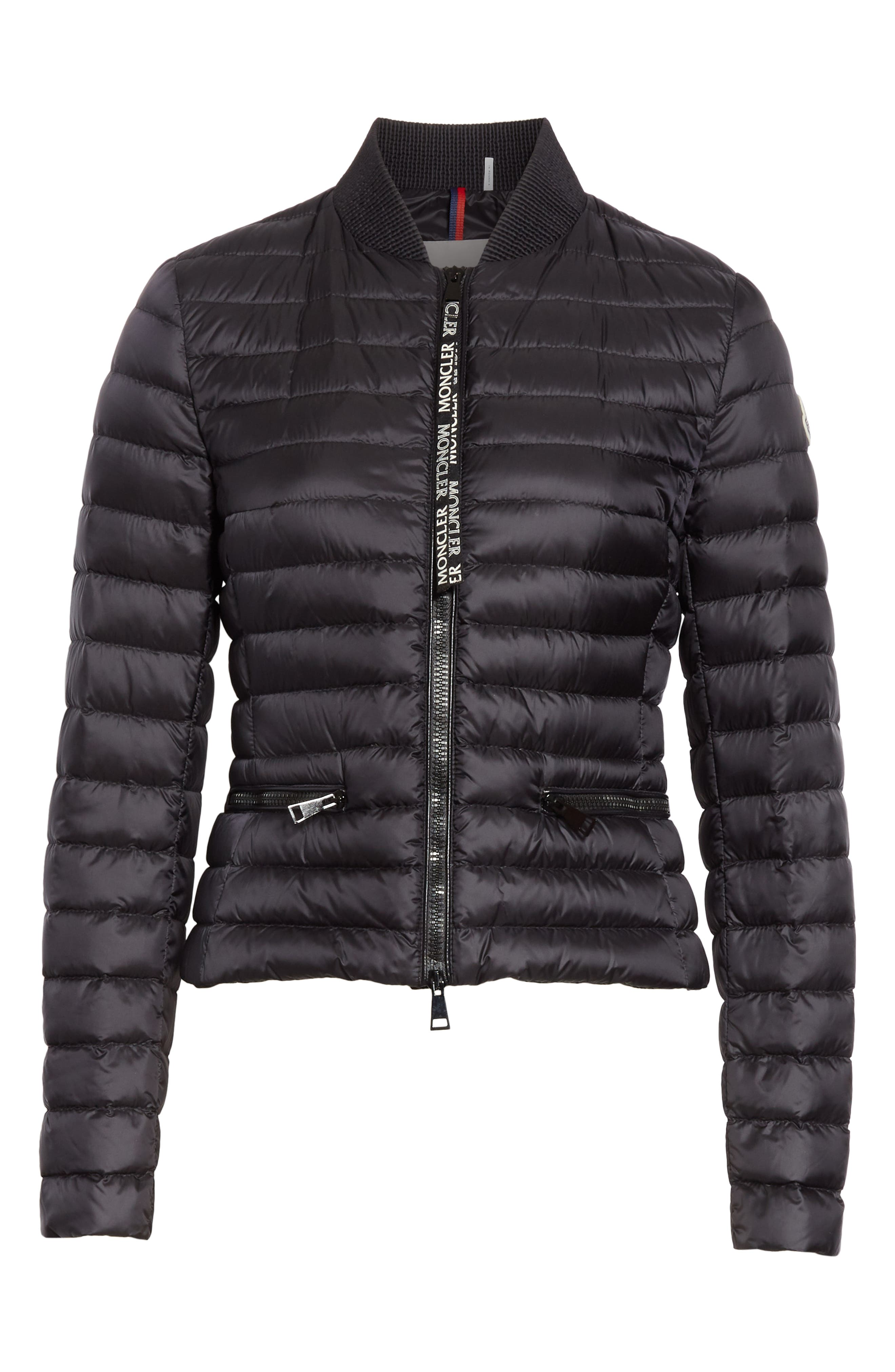 Blenca Quilted Down Jacket,                             Alternate thumbnail 5, color,                             BLACK