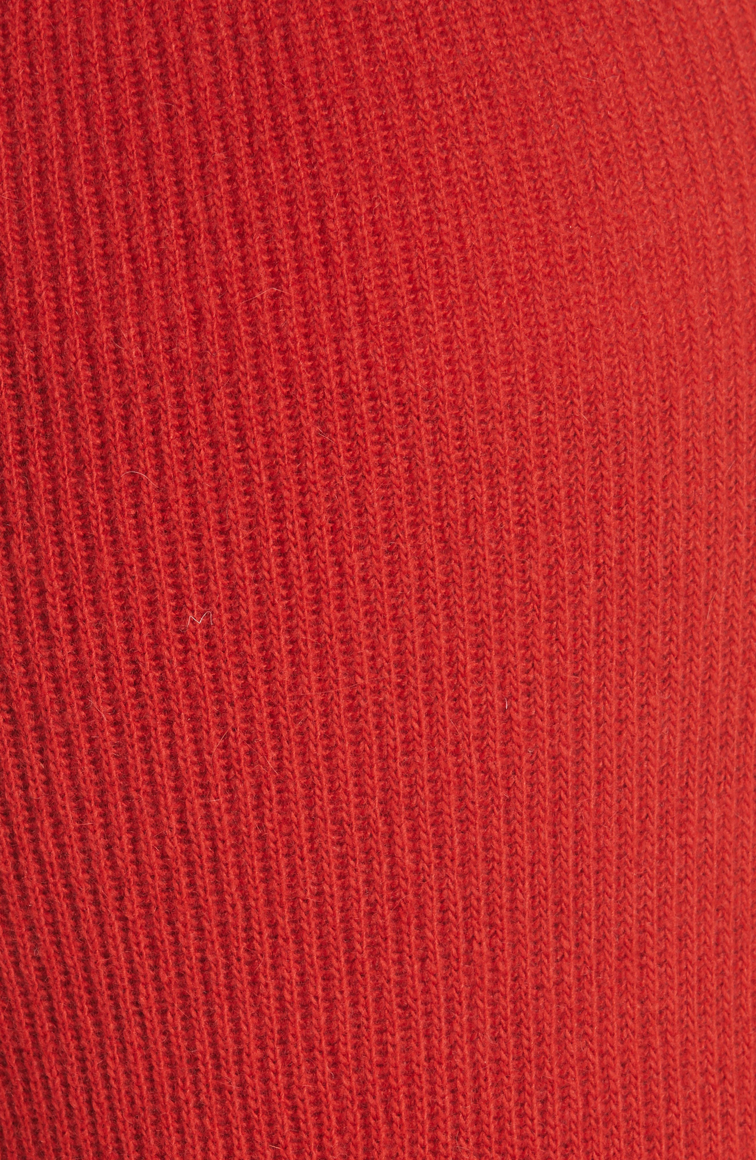 Tigre Merino Wool & Cashmere Blend Pants,                             Alternate thumbnail 5, color,                             RED