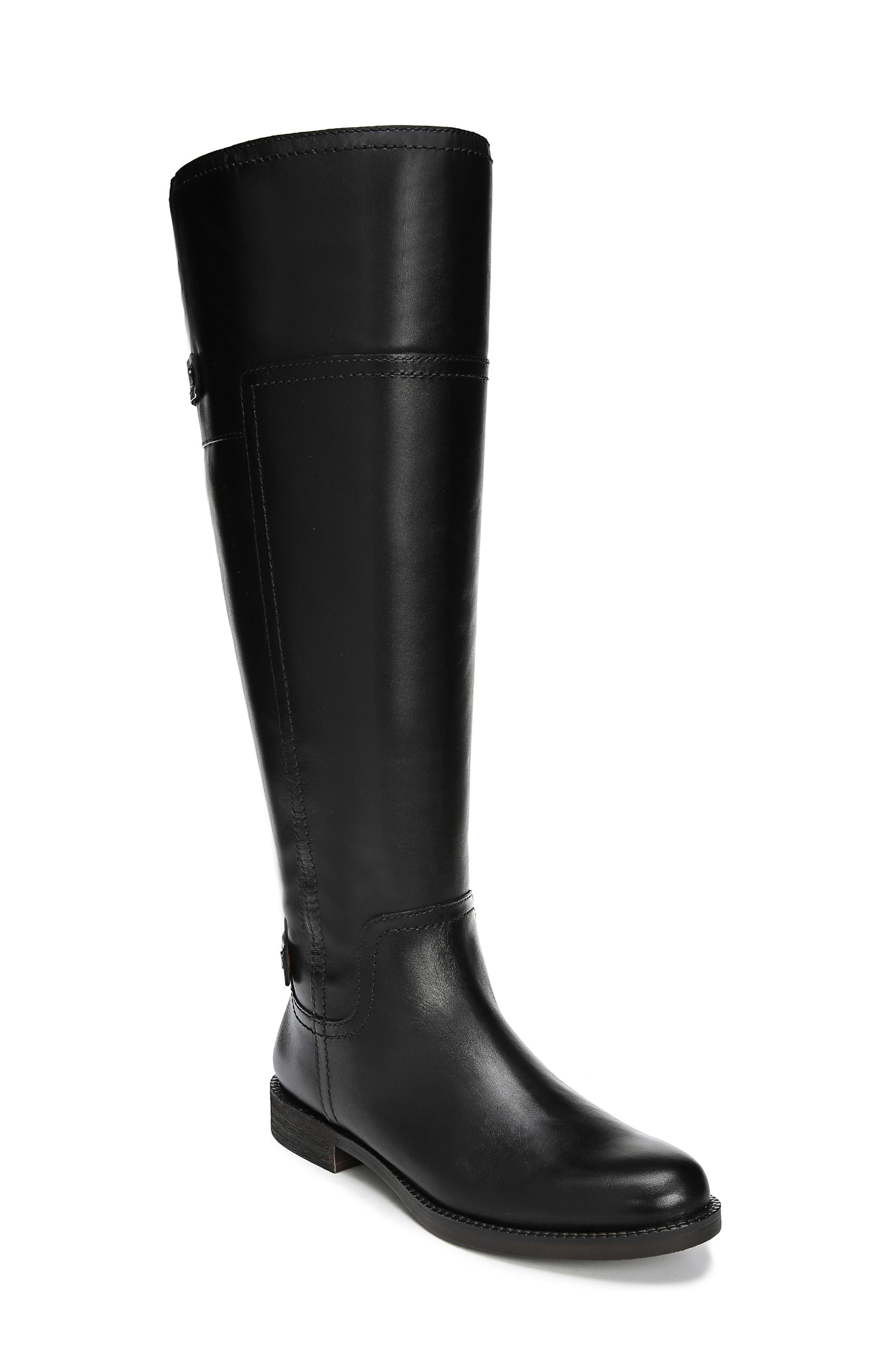 Capitol Riding Boot,                             Main thumbnail 1, color,                             BLACK LEATHER