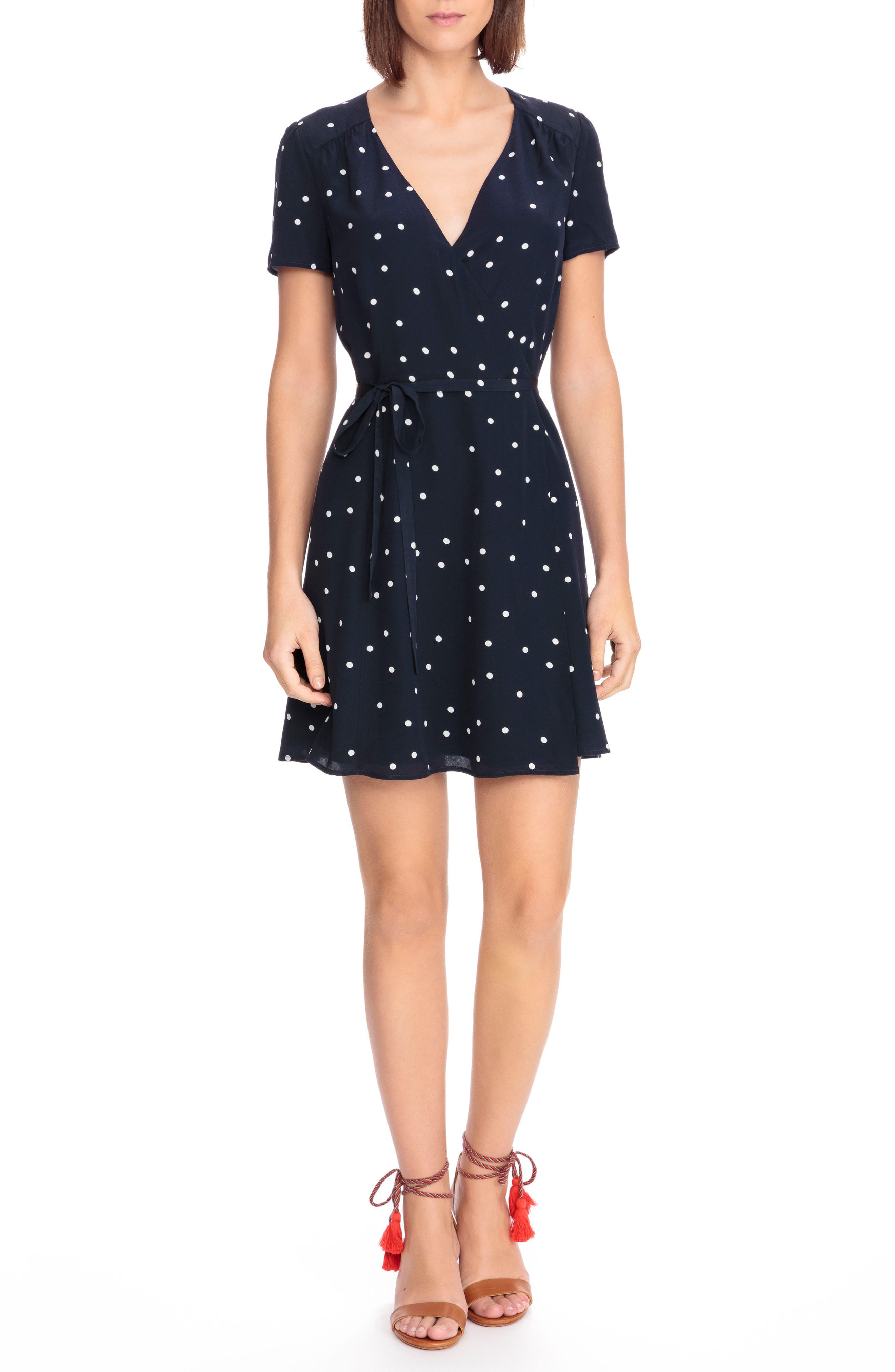 Anastasia Silk Wrap Dress,                         Main,                         color, 400