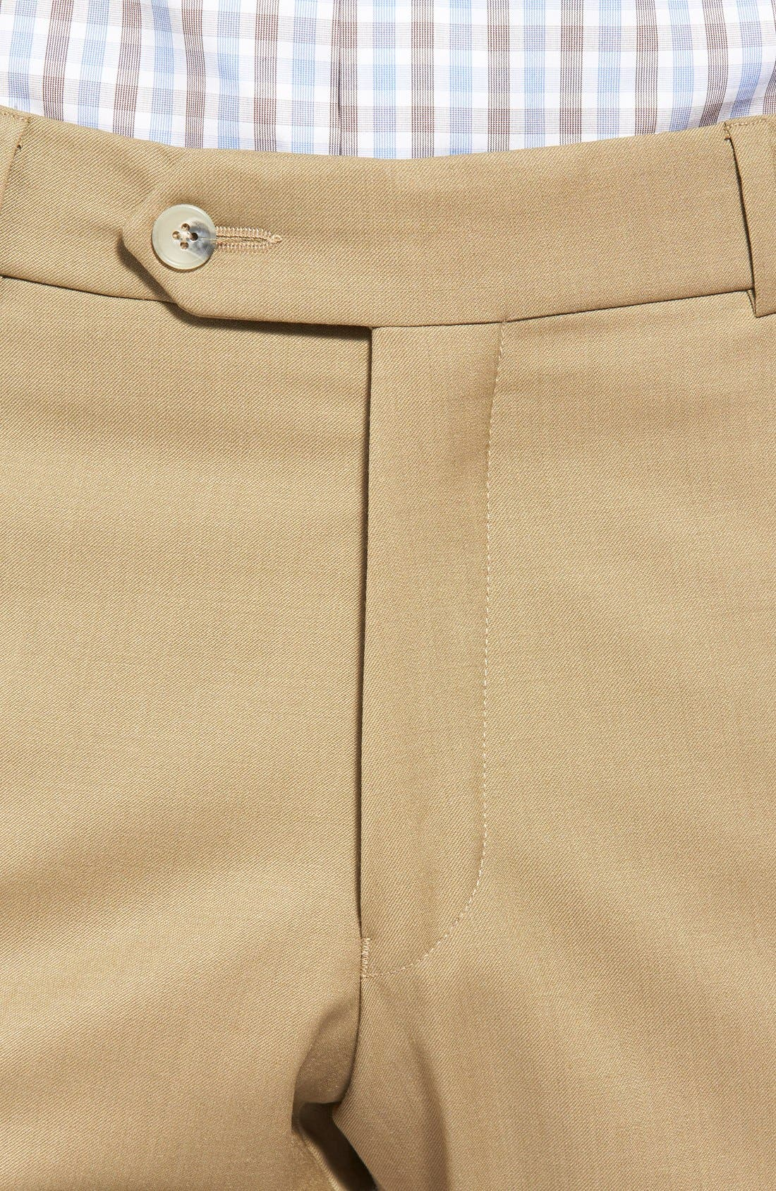 Flat Front Solid Wool Trousers,                             Alternate thumbnail 52, color,