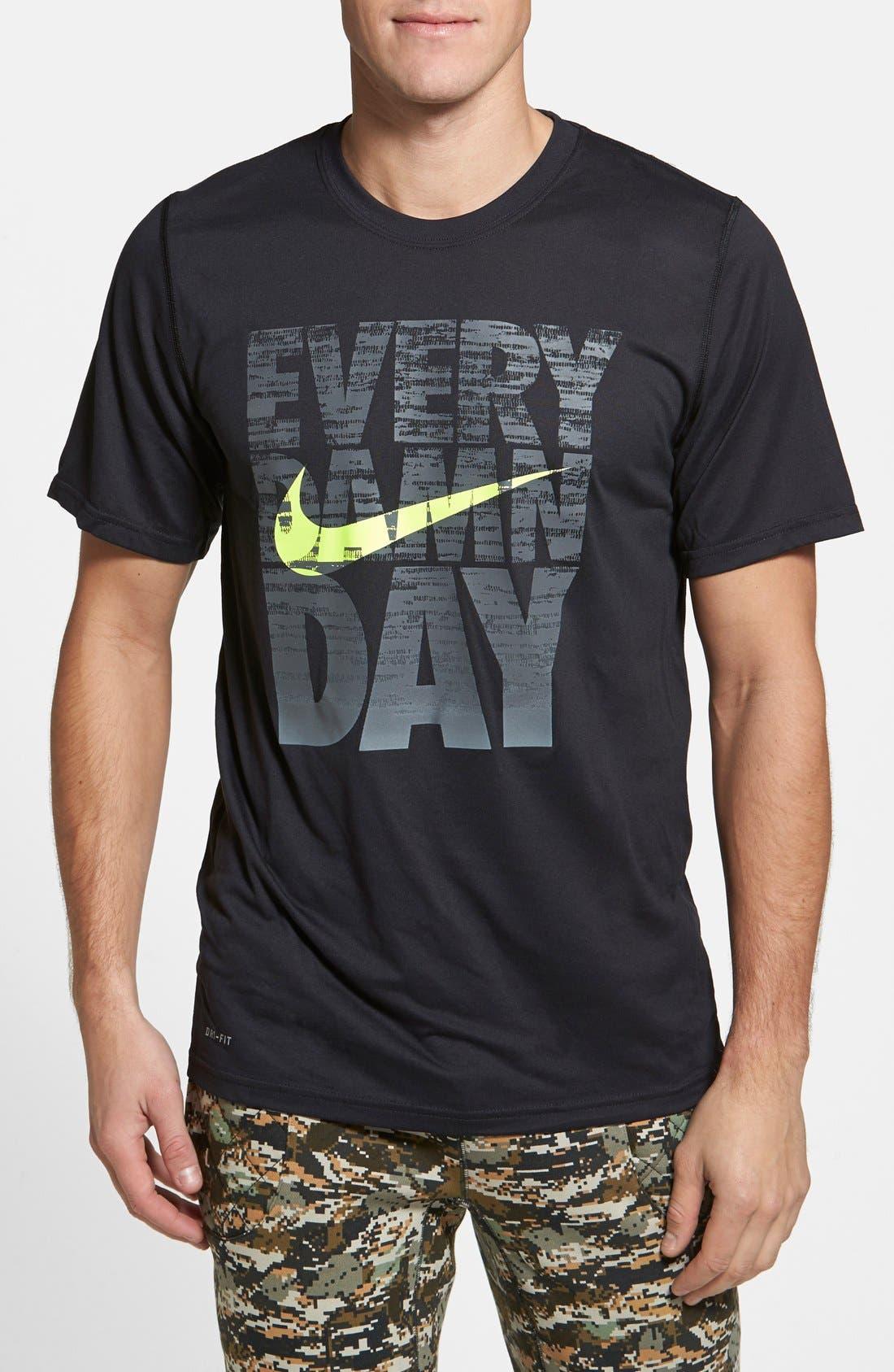 'Legend - Every Damn Day' Dri-FIT Basketball T-Shirt,                             Main thumbnail 1, color,                             010