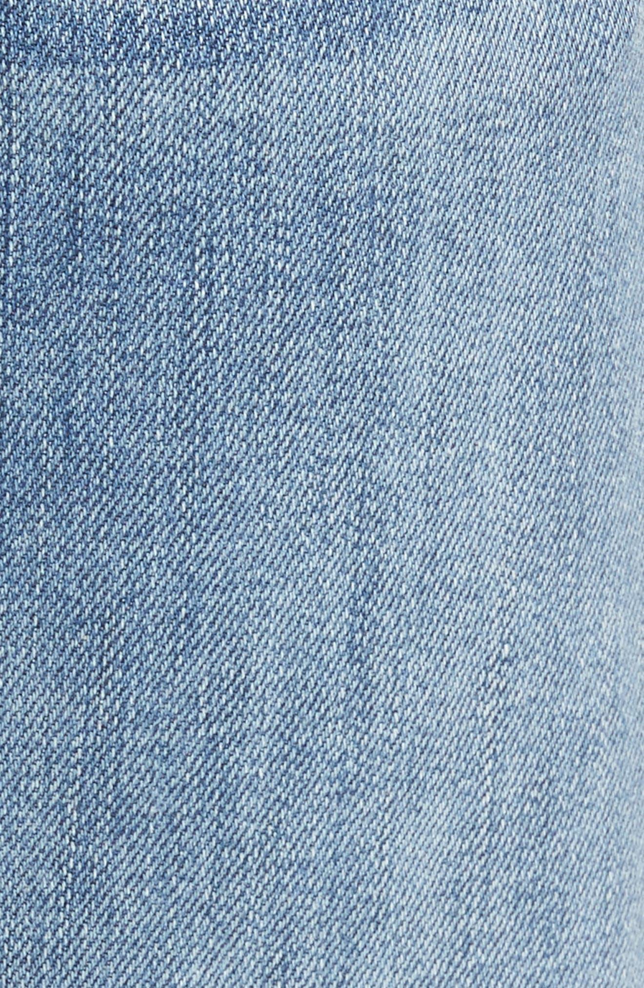 7 For All Mankind Slim Straight Leg Jeans,                             Alternate thumbnail 5, color,                             400