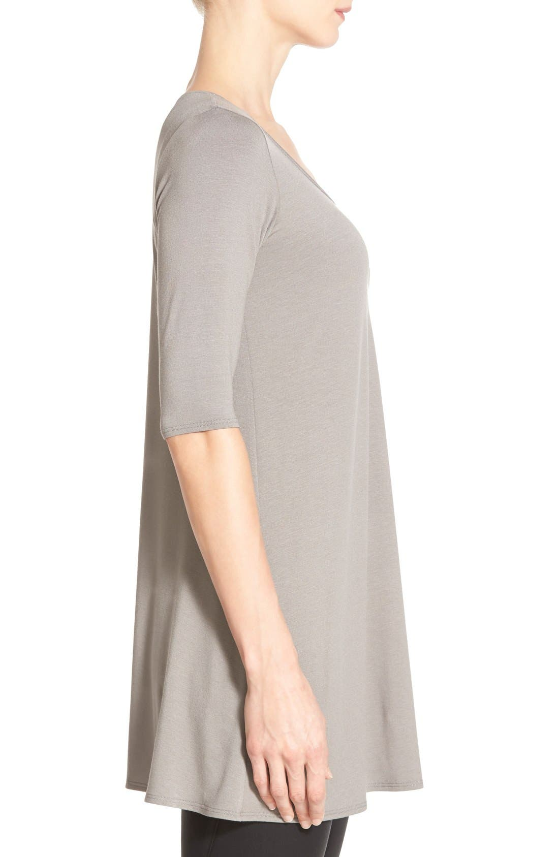Scoop Neck Elbow Sleeve Jersey Tunic,                             Alternate thumbnail 50, color,