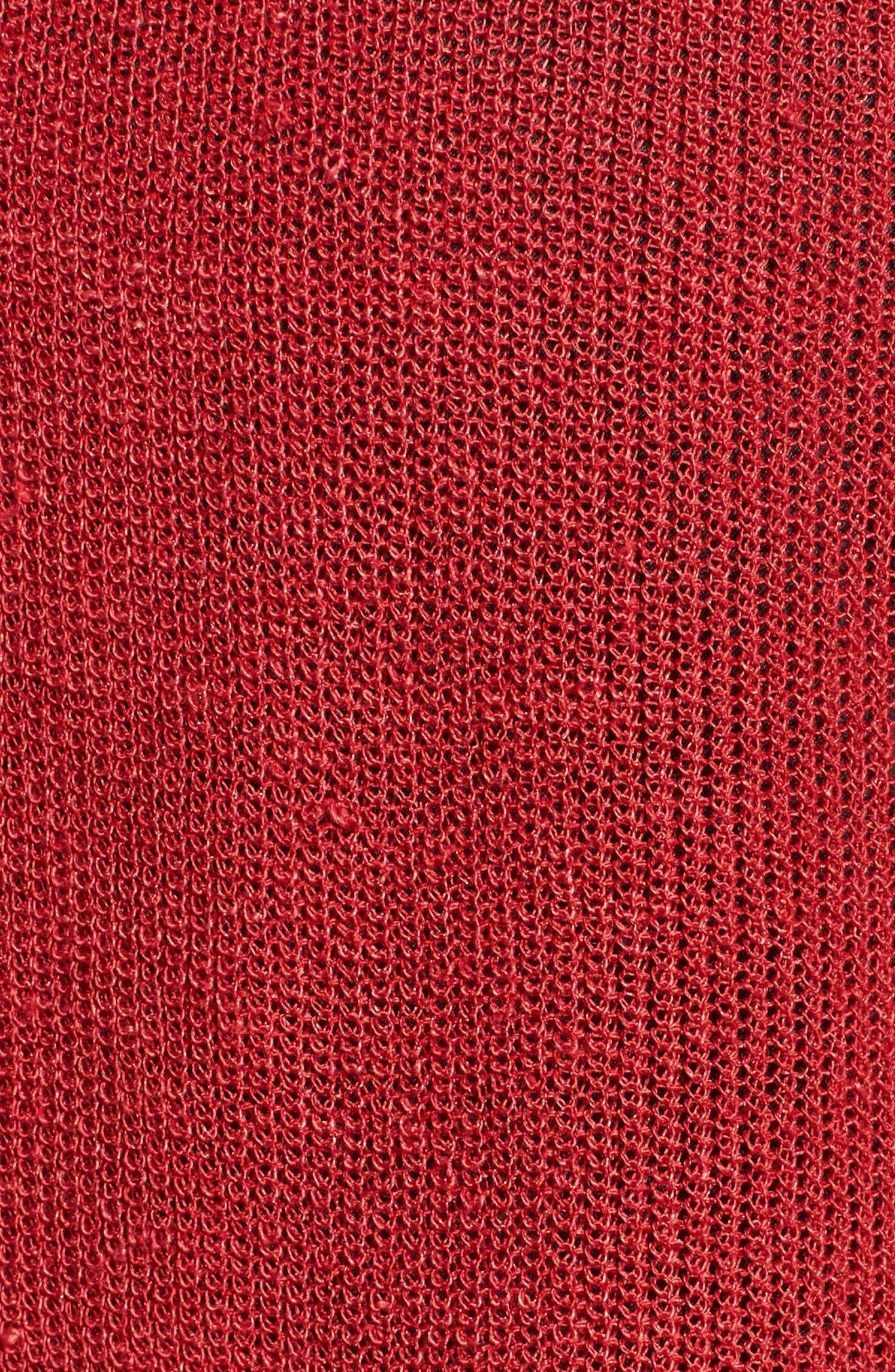 Organic Linen Blend Crop Cardigan,                             Alternate thumbnail 15, color,