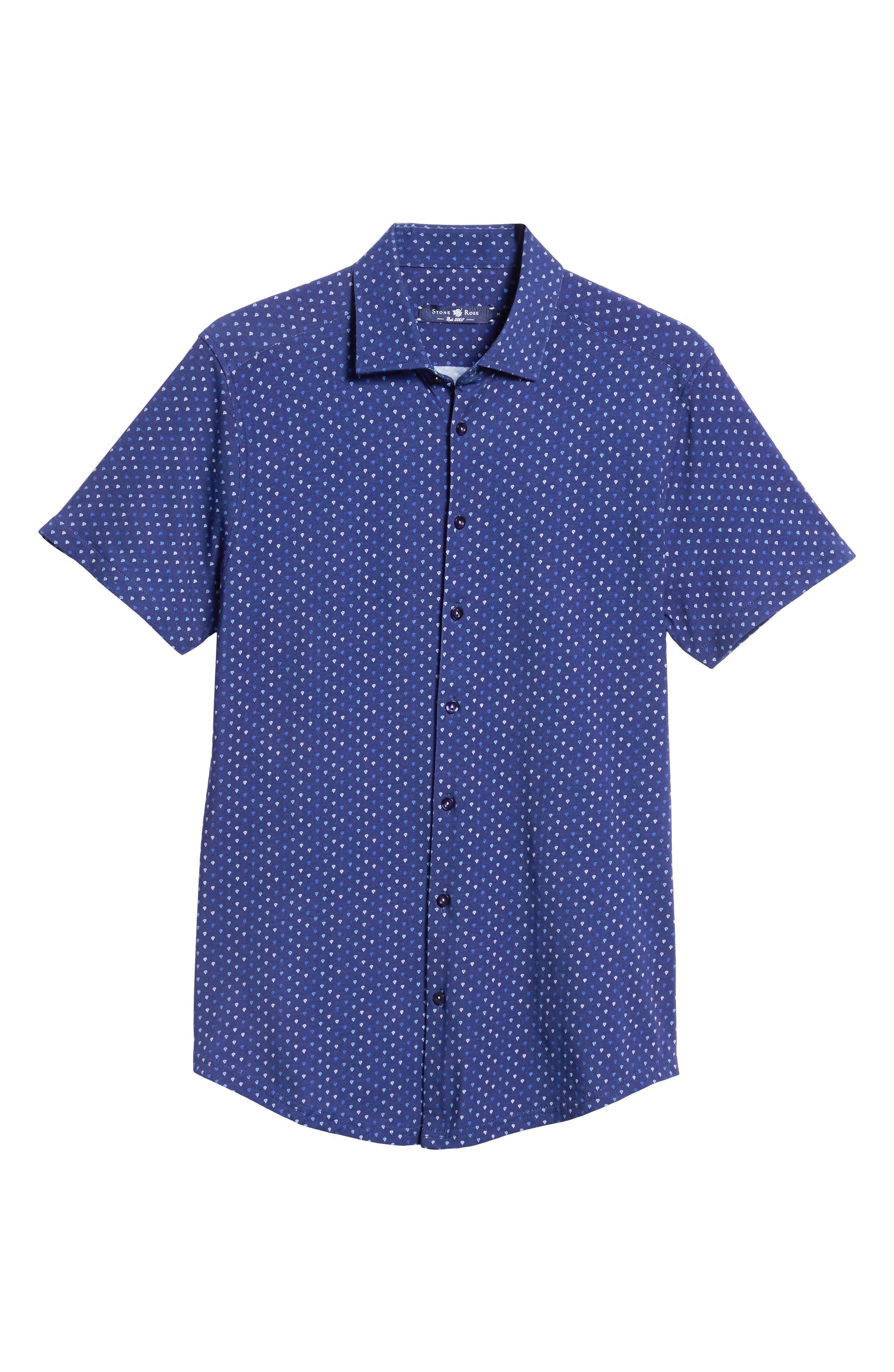 Regular Fit Sport Shirt,                             Alternate thumbnail 5, color,                             NAVY