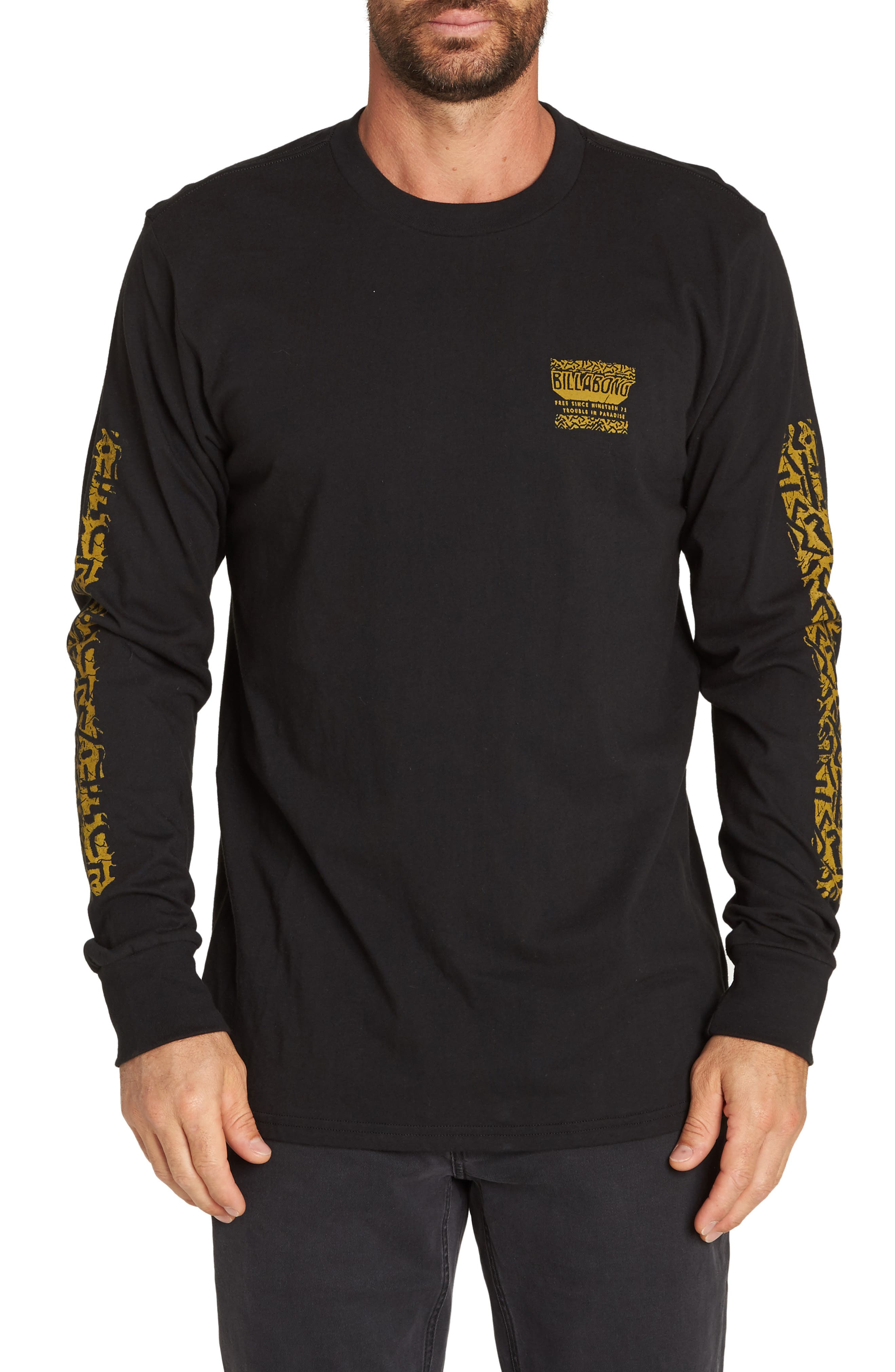 BILLABONG,                             Haze T-Shirt,                             Main thumbnail 1, color,                             001