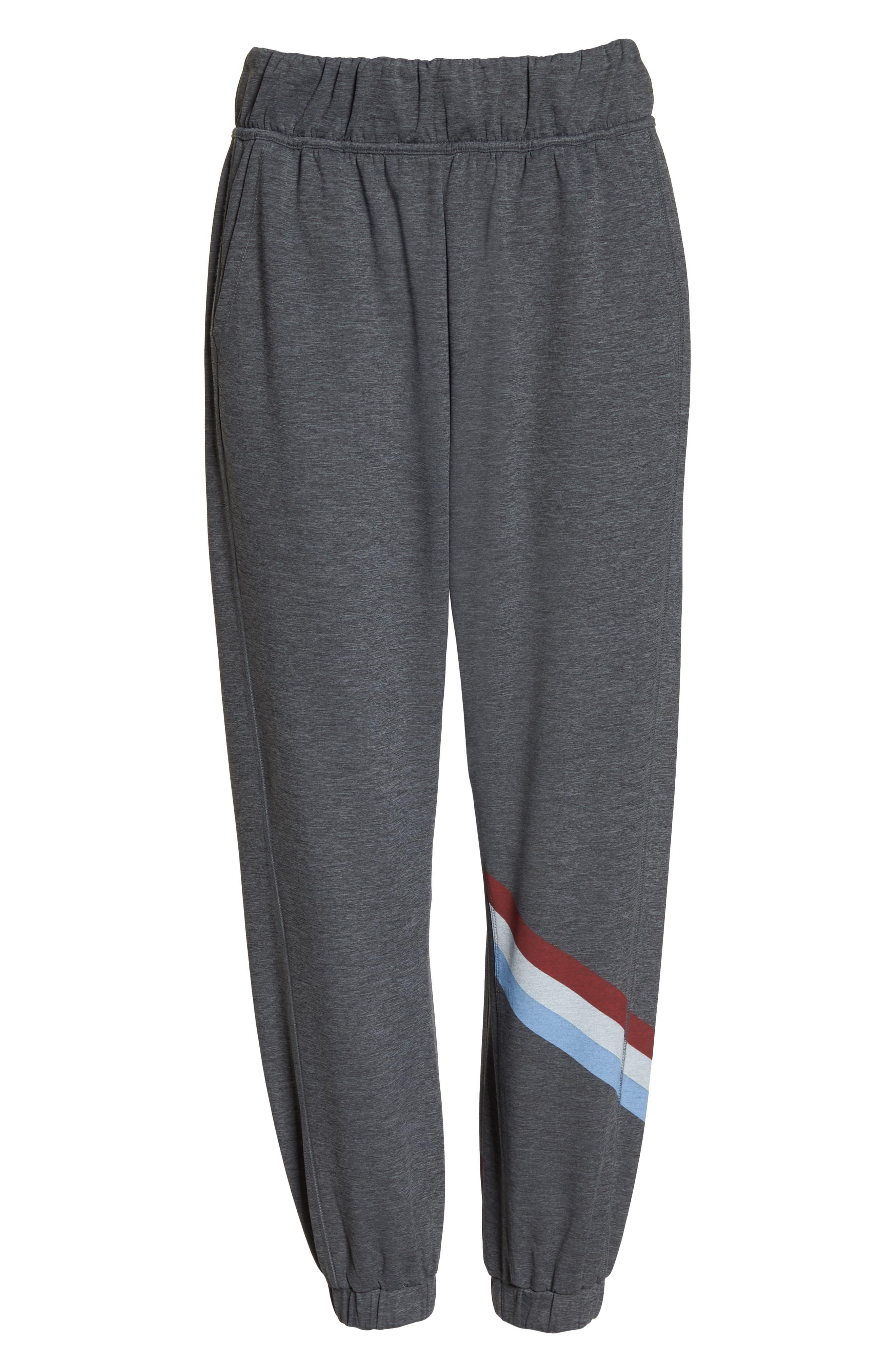 Cool Down Swirl Stripe Sweatpants,                             Alternate thumbnail 7, color,                             020