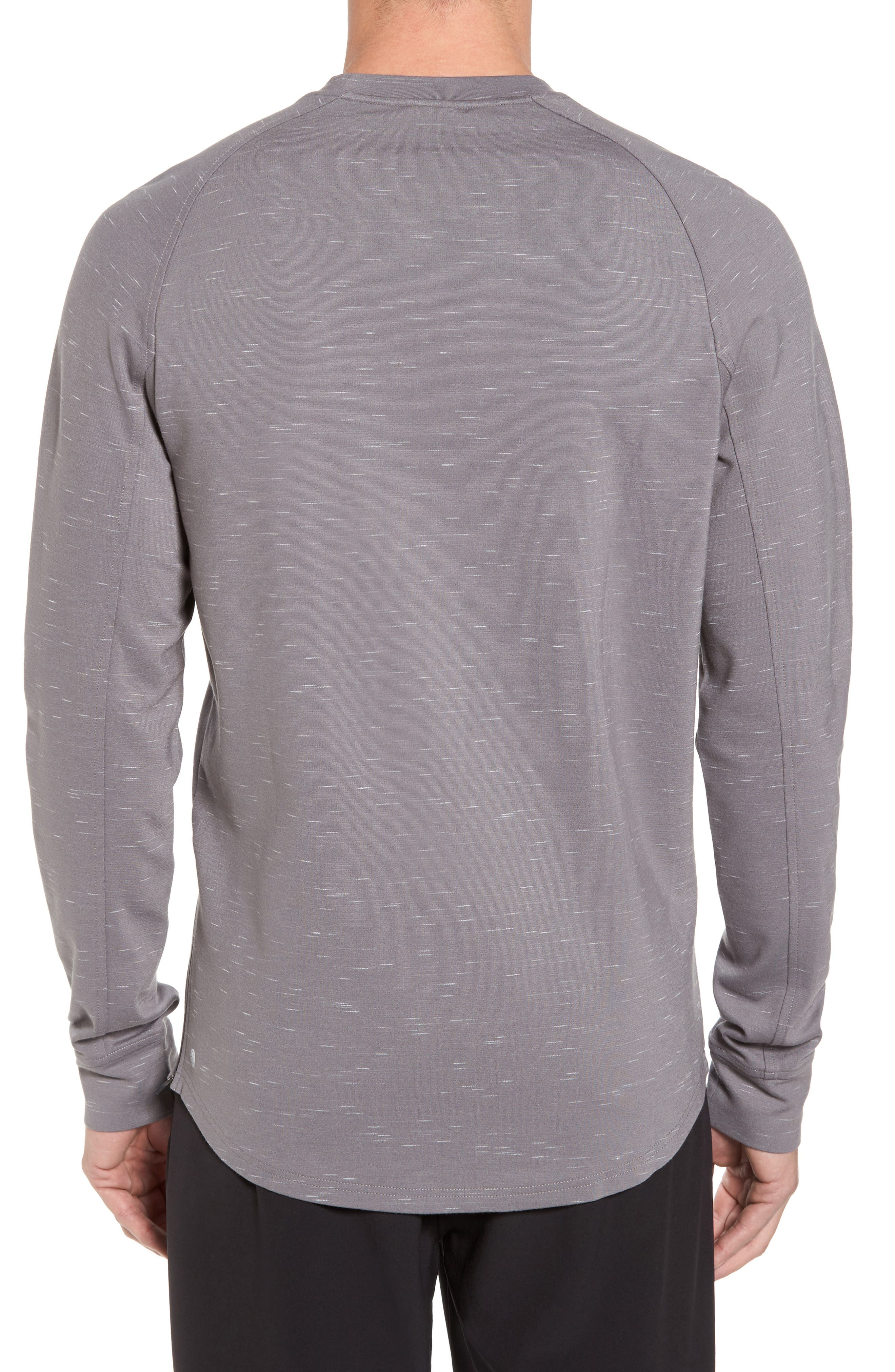 Fleece Crewneck Sweatshirt,                             Alternate thumbnail 4, color,