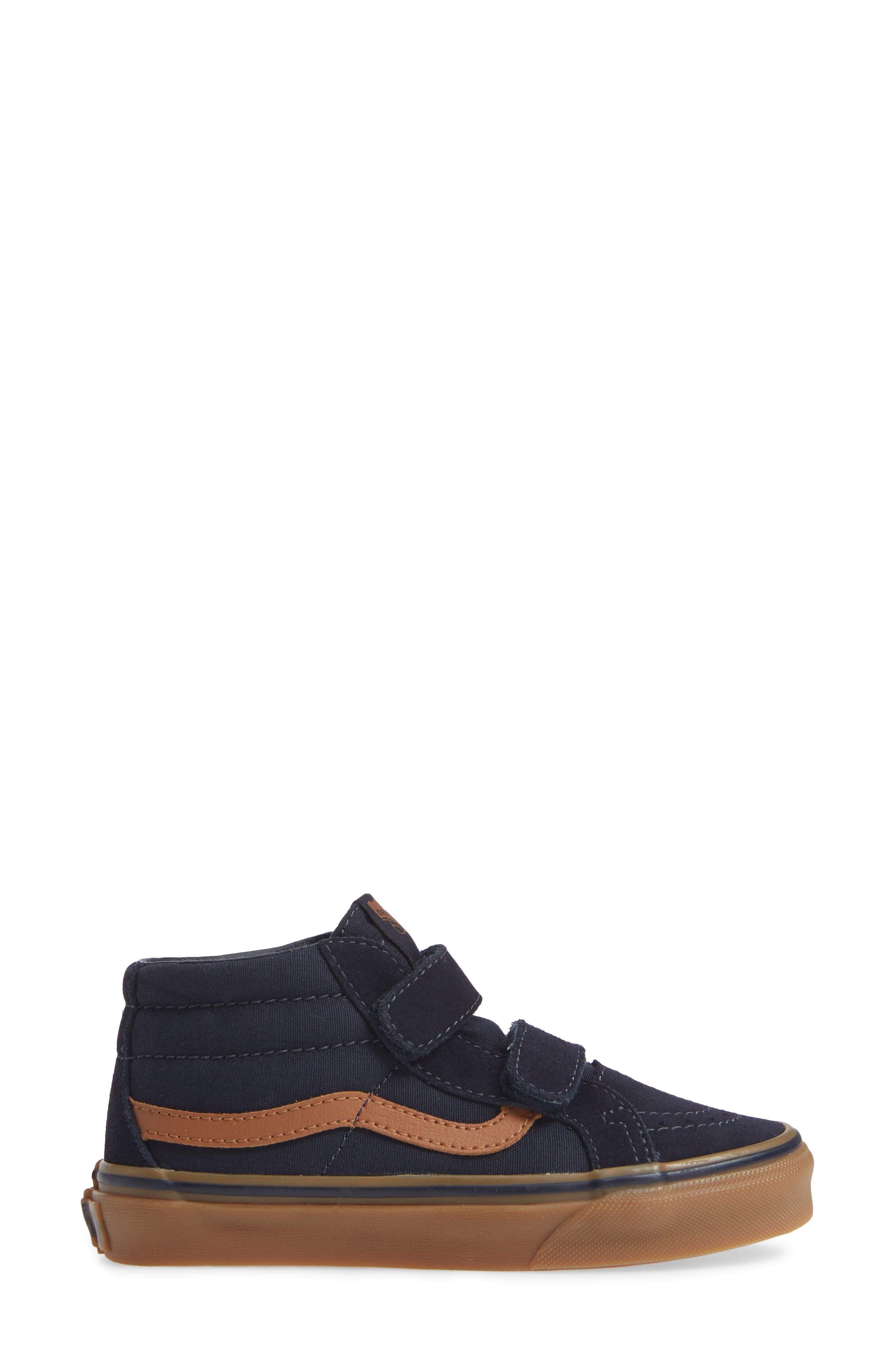 Sk8-Mid Reissue V Sneaker,                             Alternate thumbnail 3, color,                             SKY CAPTAIN/ GUM
