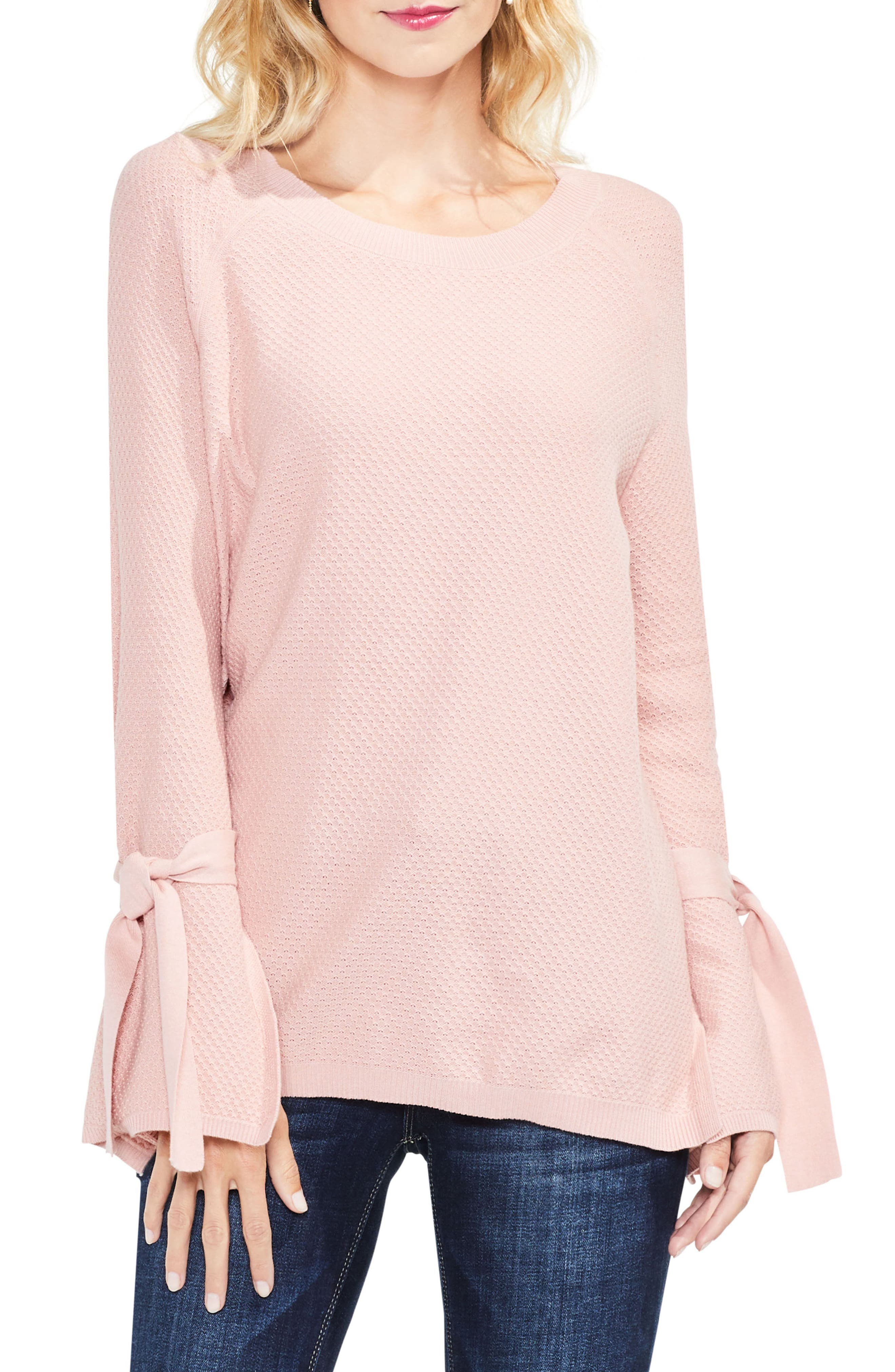Texture Stitch Tie-Sleeve Top,                             Main thumbnail 3, color,