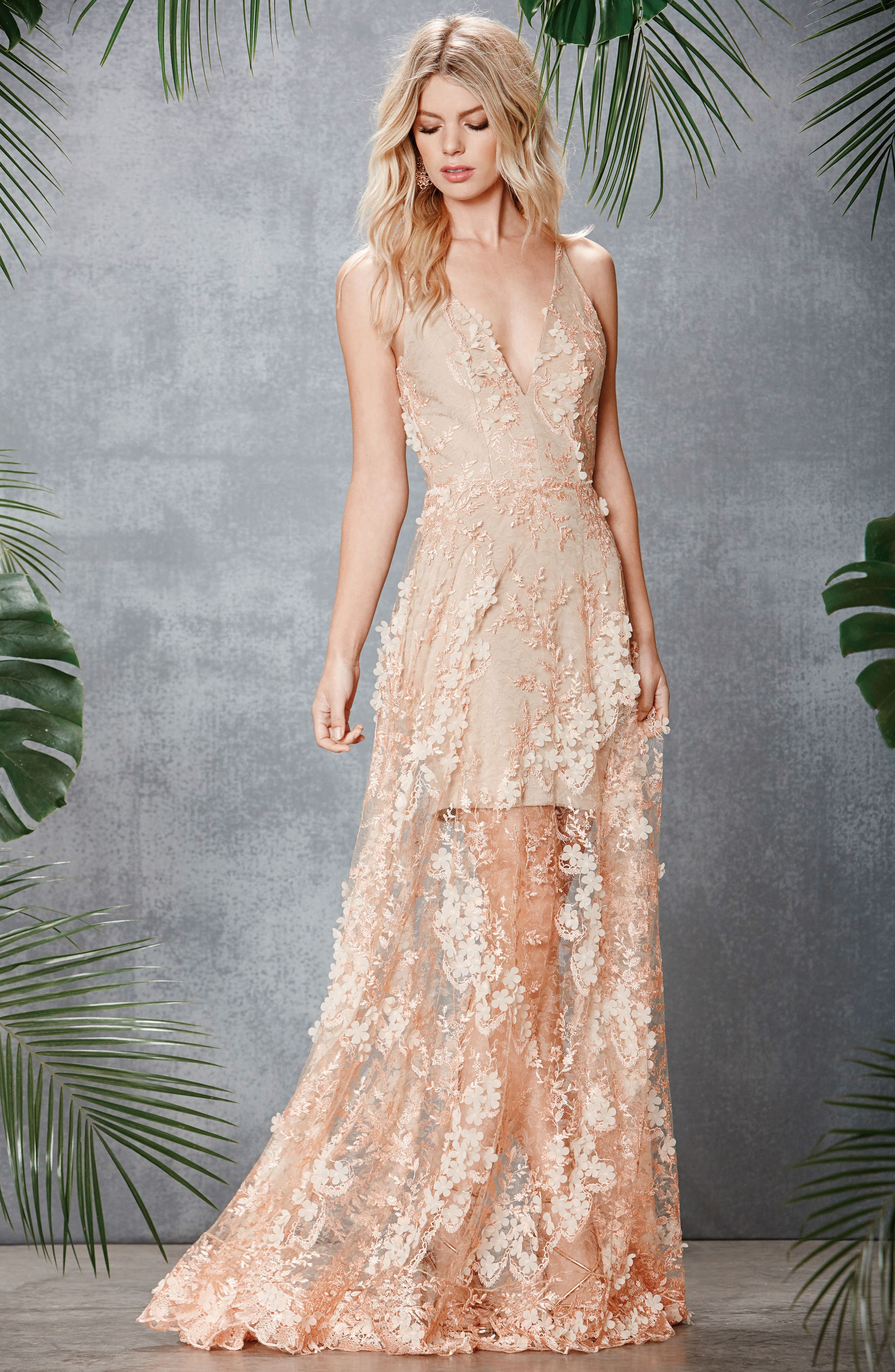 Sidney Lace Gown,                             Alternate thumbnail 20, color,