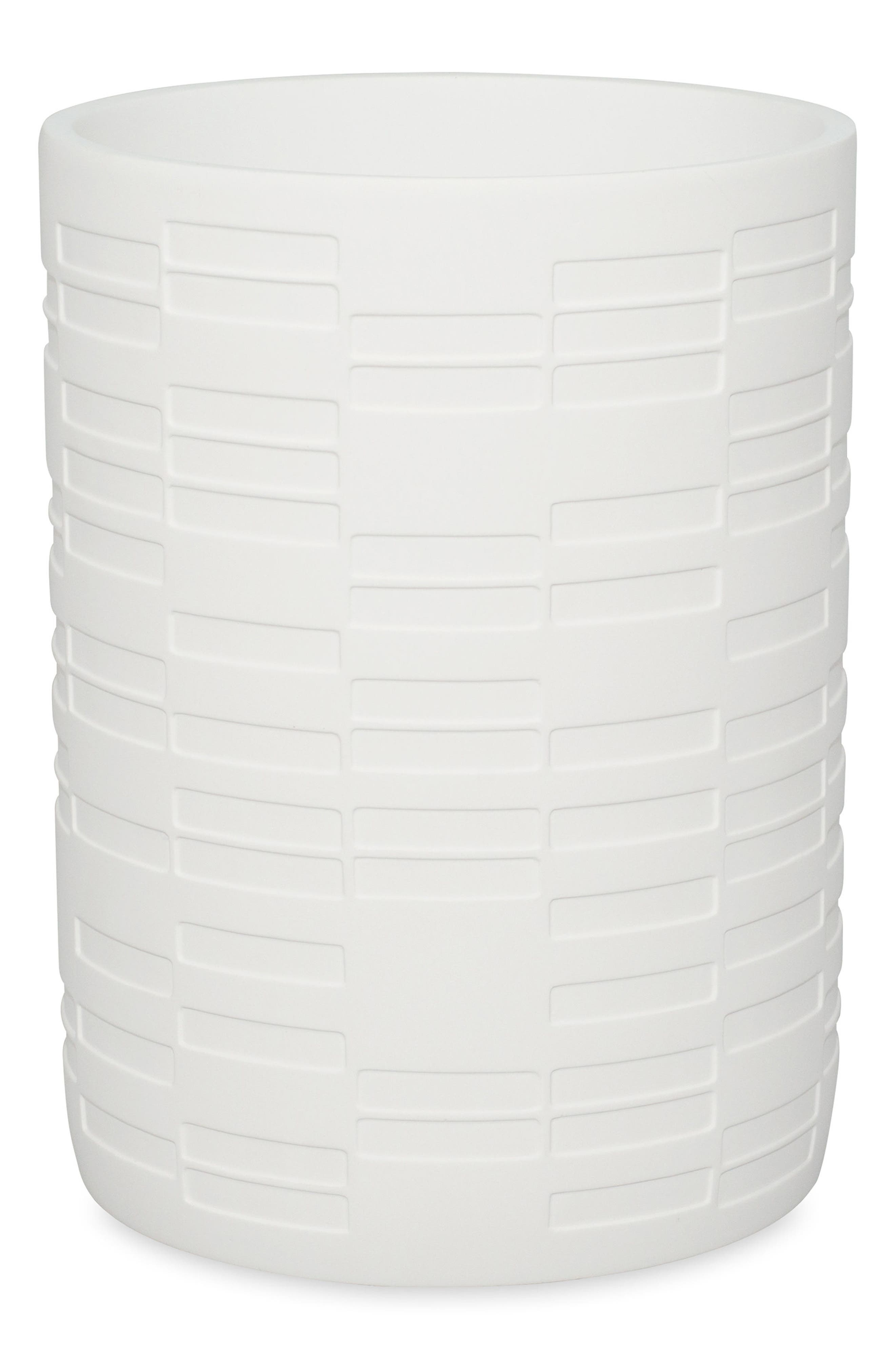 High Rise Waste Basket,                         Main,                         color, WHITE