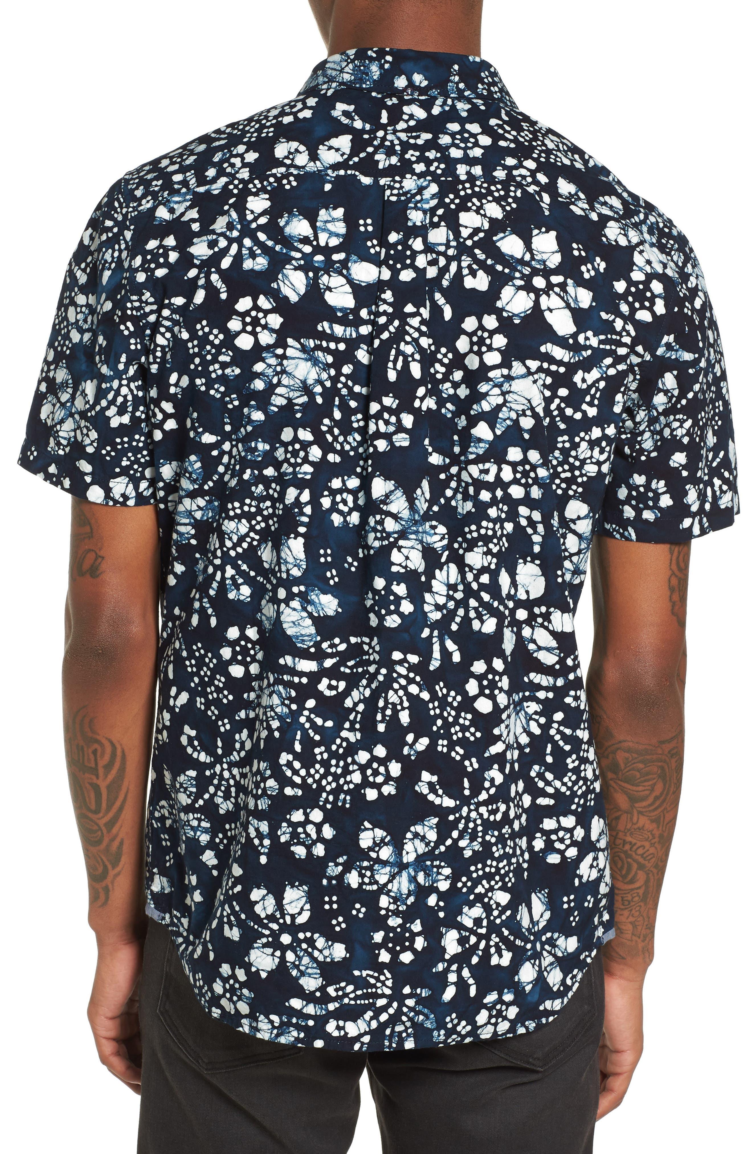 Trippin Batik Woven Shirt,                             Alternate thumbnail 2, color,                             400