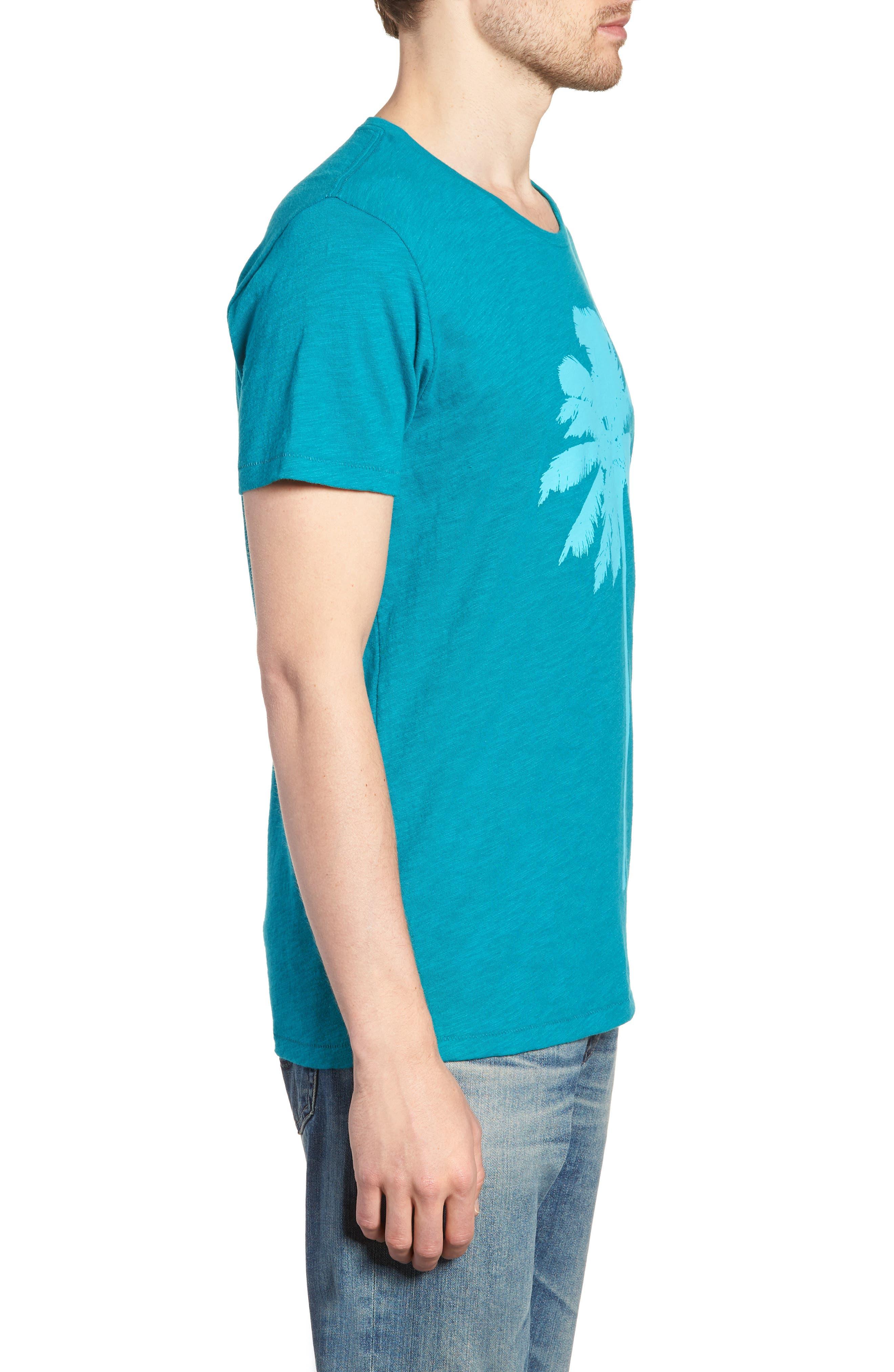 Palm Print T-Shirt,                             Alternate thumbnail 3, color,                             300