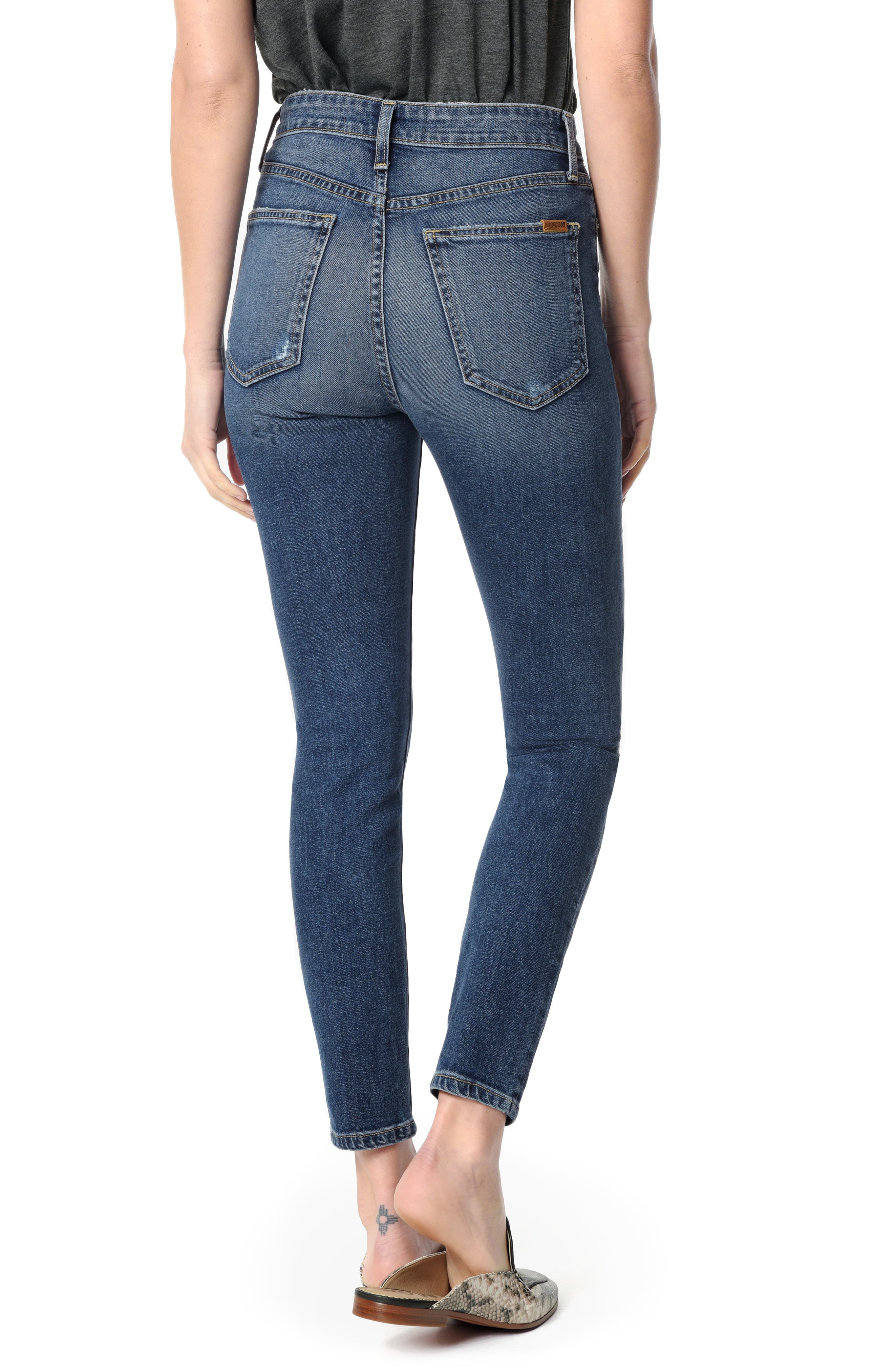Charlie High Waist Ankle Skinny Jeans,                             Alternate thumbnail 2, color,                             PAYTON
