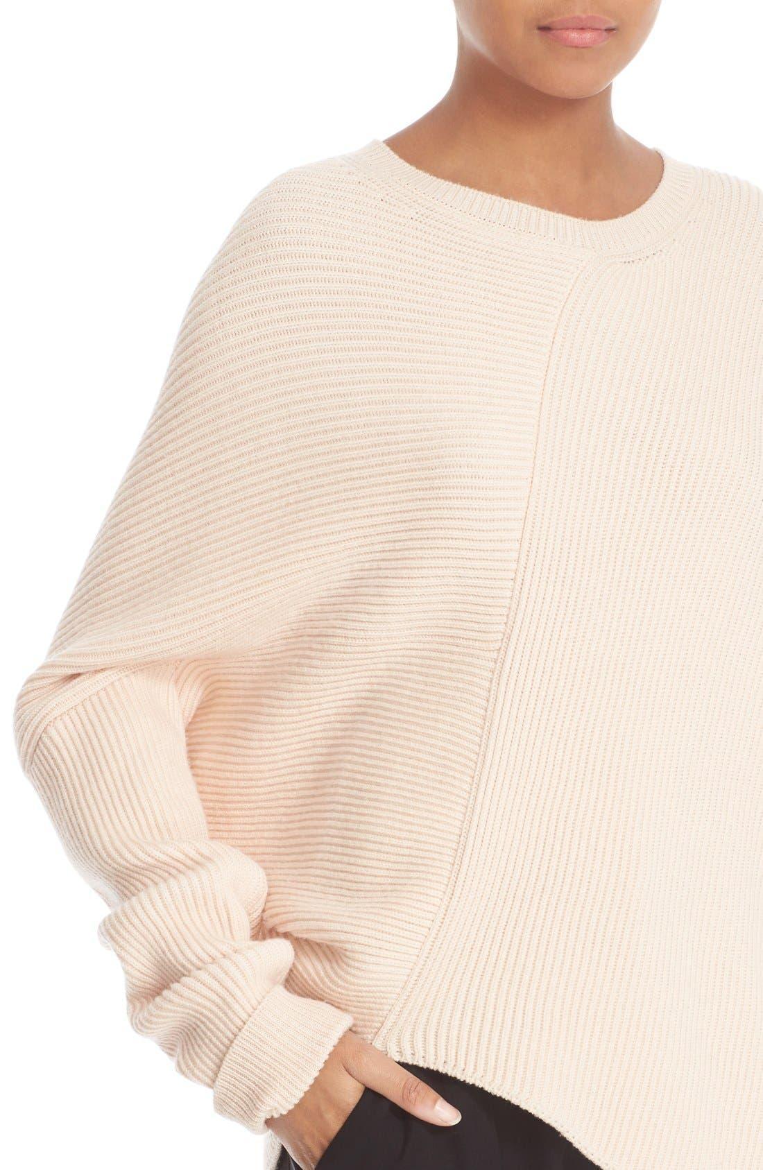 Asymmetrical Wool Sweater,                             Alternate thumbnail 6, color,                             101