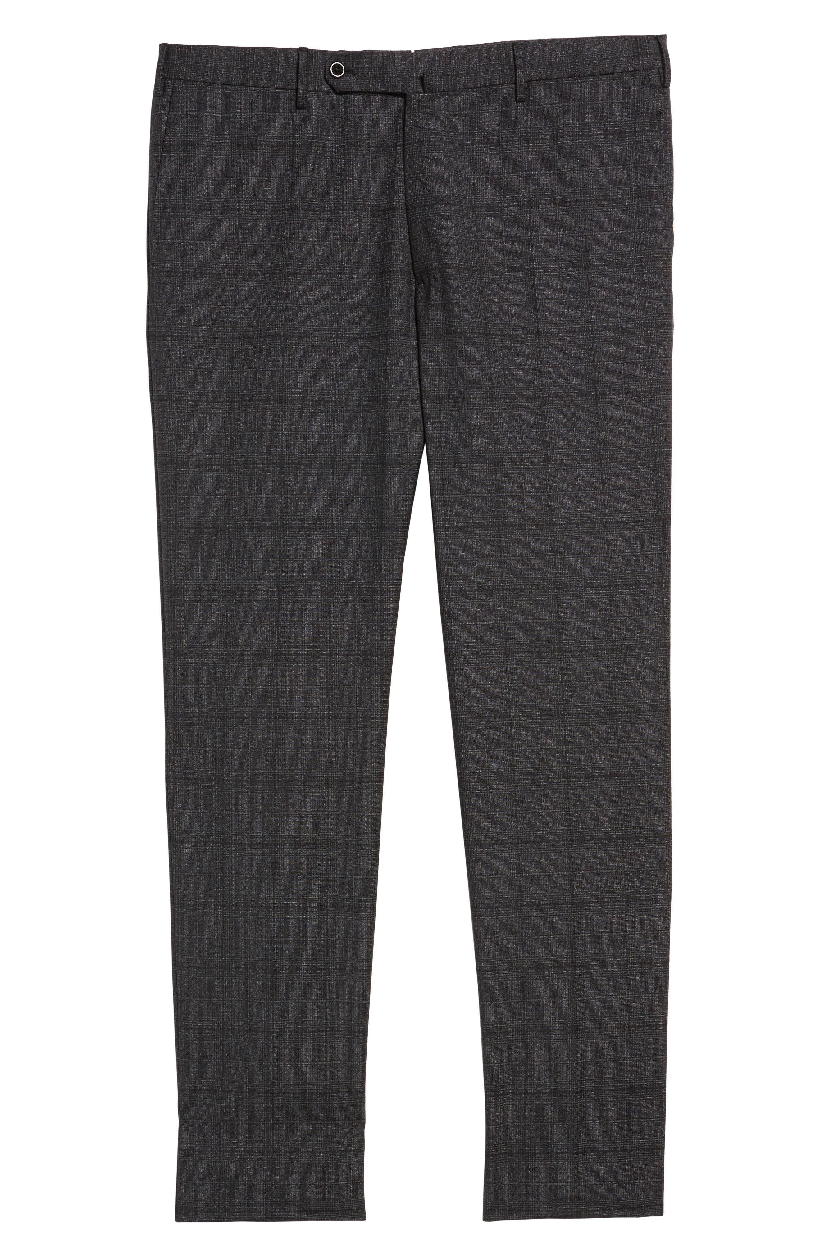 Benson Flat Front Trousers,                             Alternate thumbnail 6, color,                             015