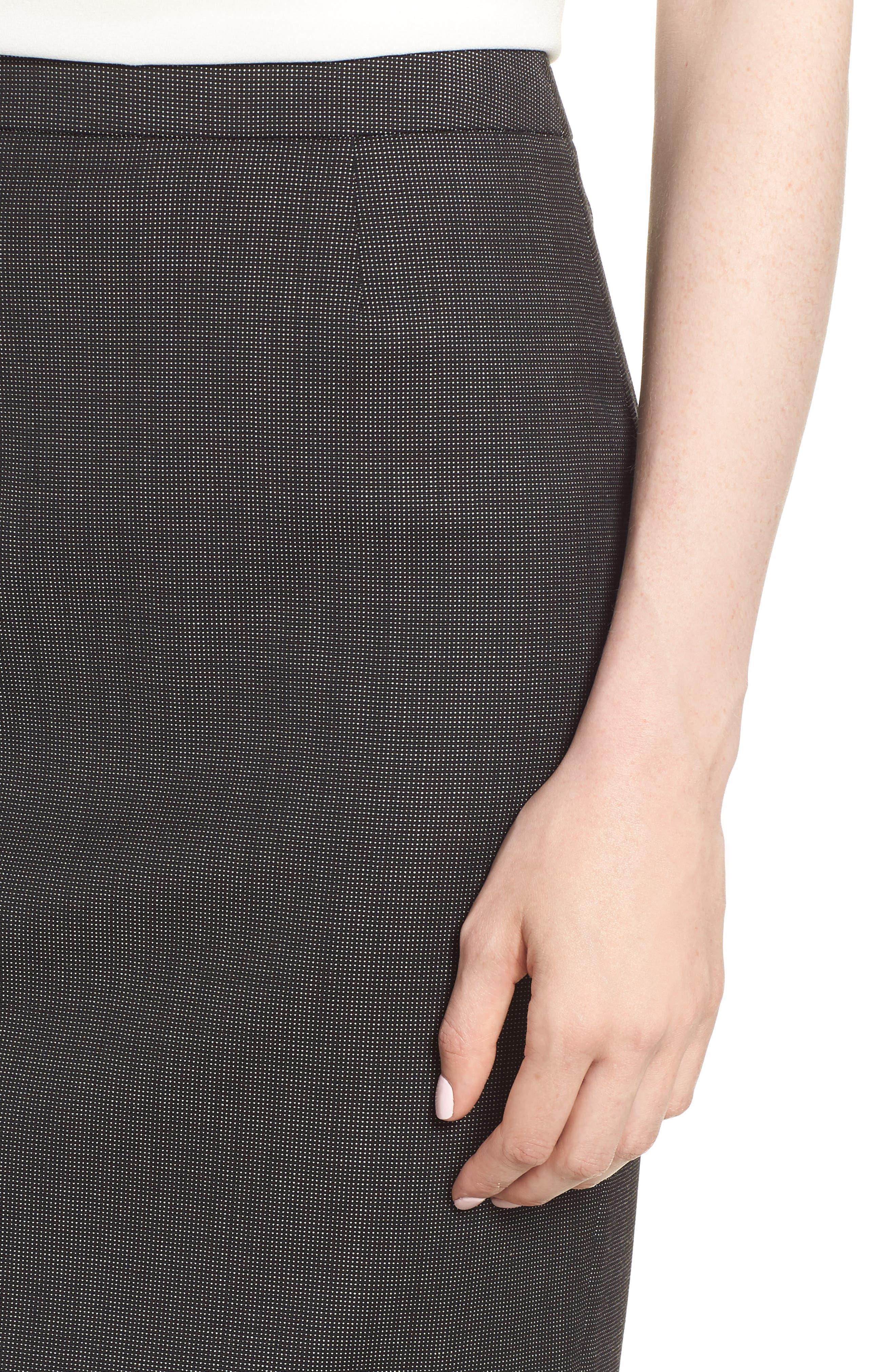 Vimena Stretch Wool Blend Suit Skirt,                             Alternate thumbnail 4, color,                             009