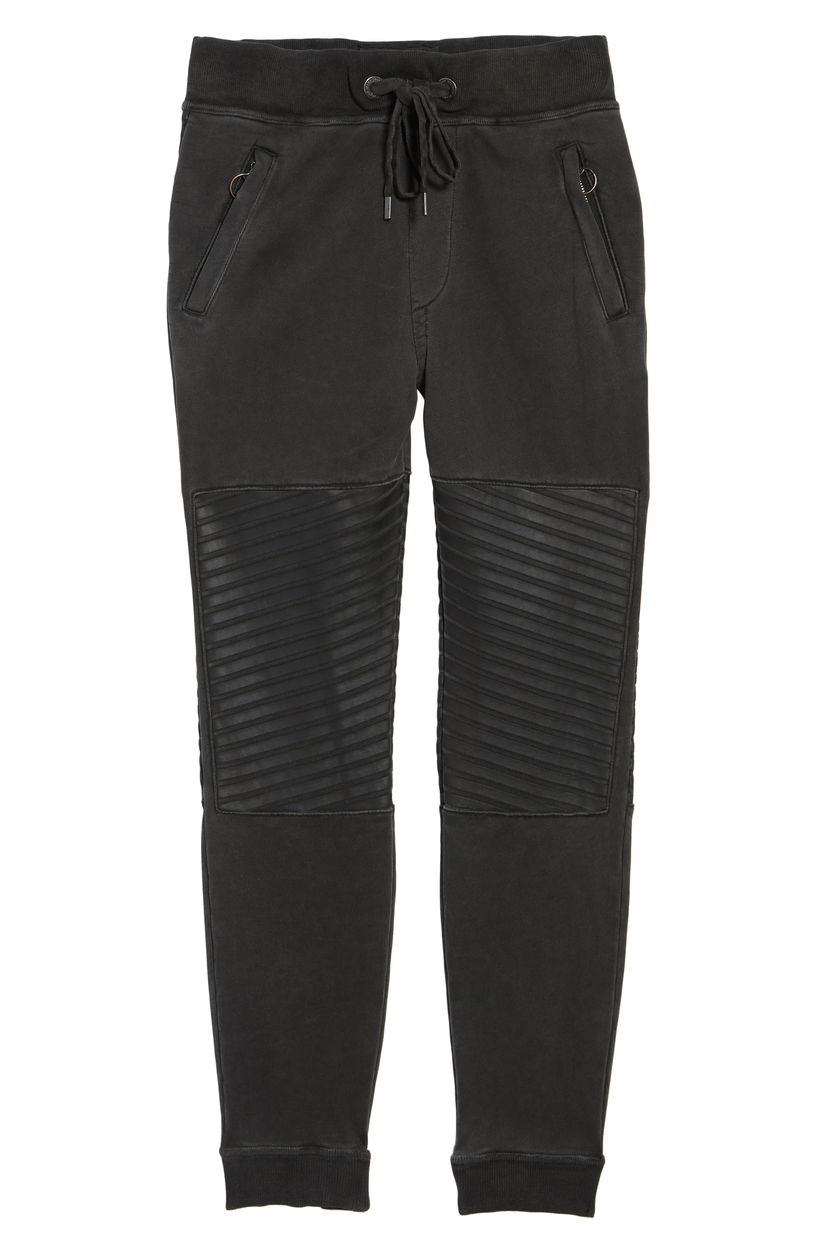 Moto Sweatpants,                             Alternate thumbnail 6, color,                             001