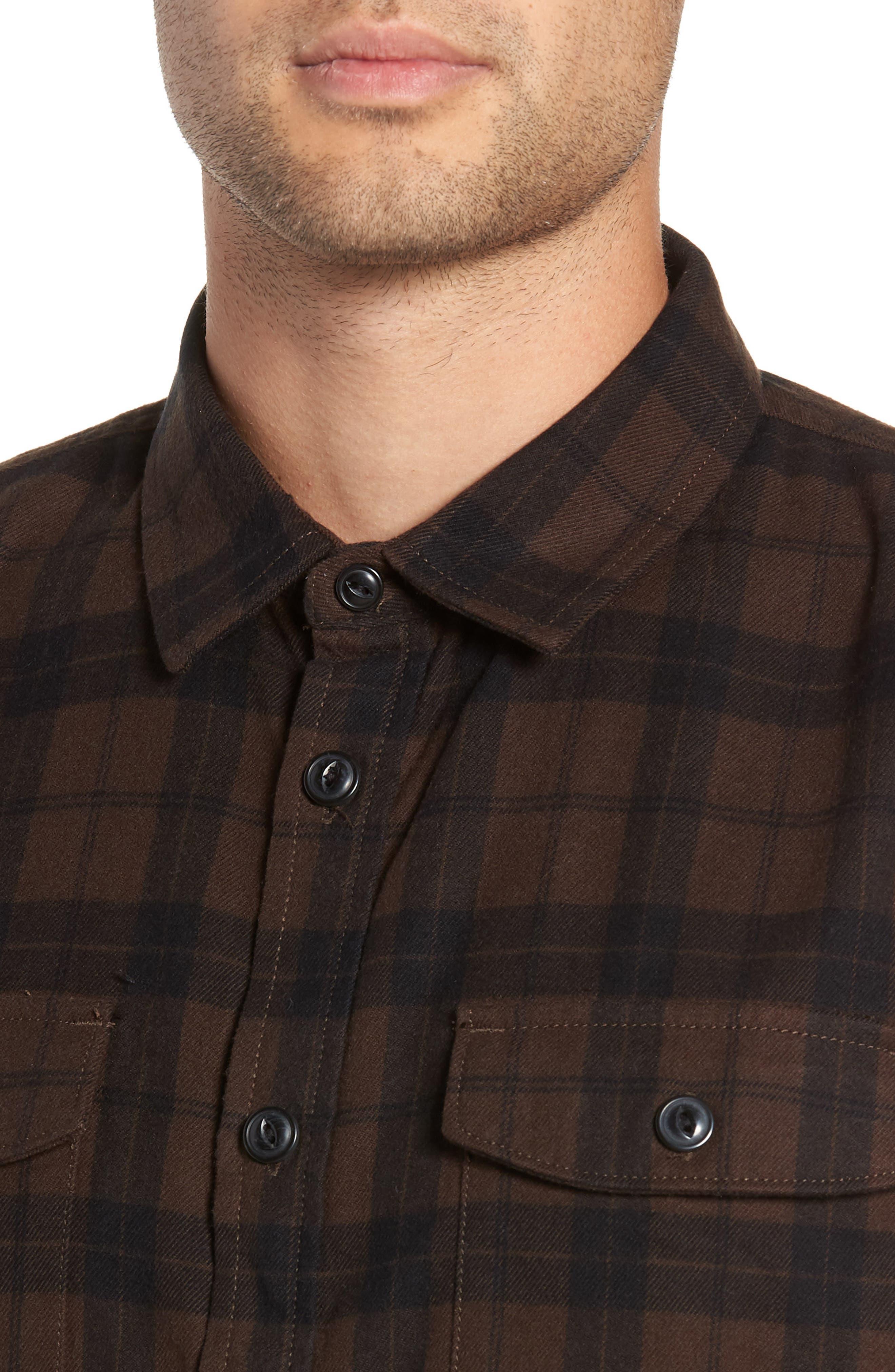 Blackstone Flannel Shirt,                             Alternate thumbnail 2, color,                             DEMITASSE/ BLACK