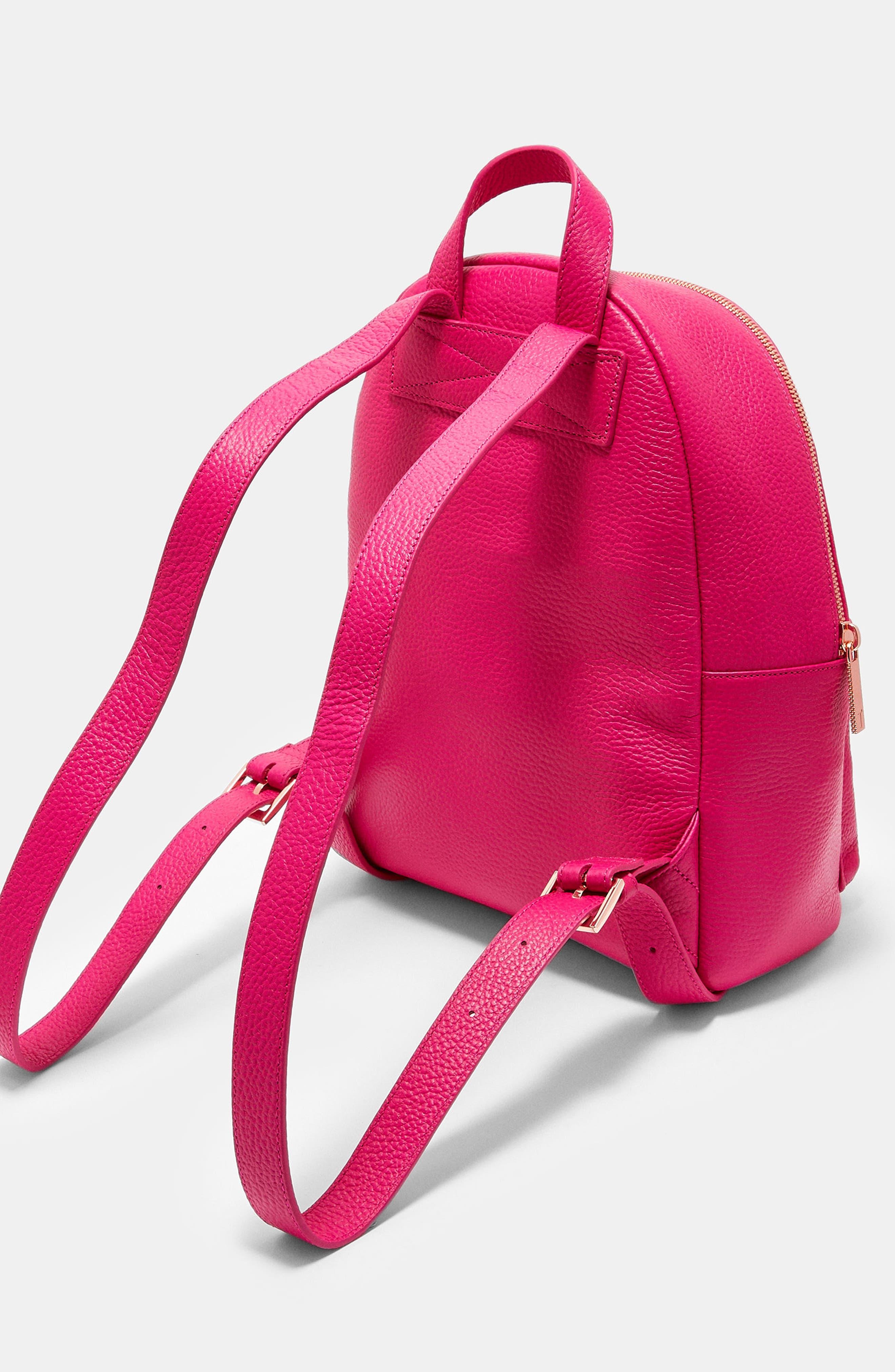 Pearen Leather Backpack,                             Alternate thumbnail 10, color,