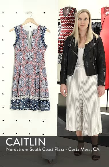 Print Scuba Fit & Flare Dress, sales video thumbnail