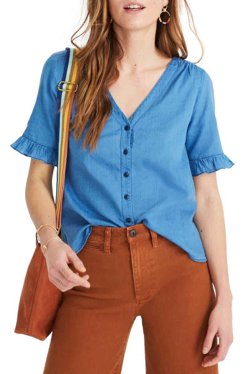 dfd6d598439 Madewell Village Ruffle Sleeve Shirt
