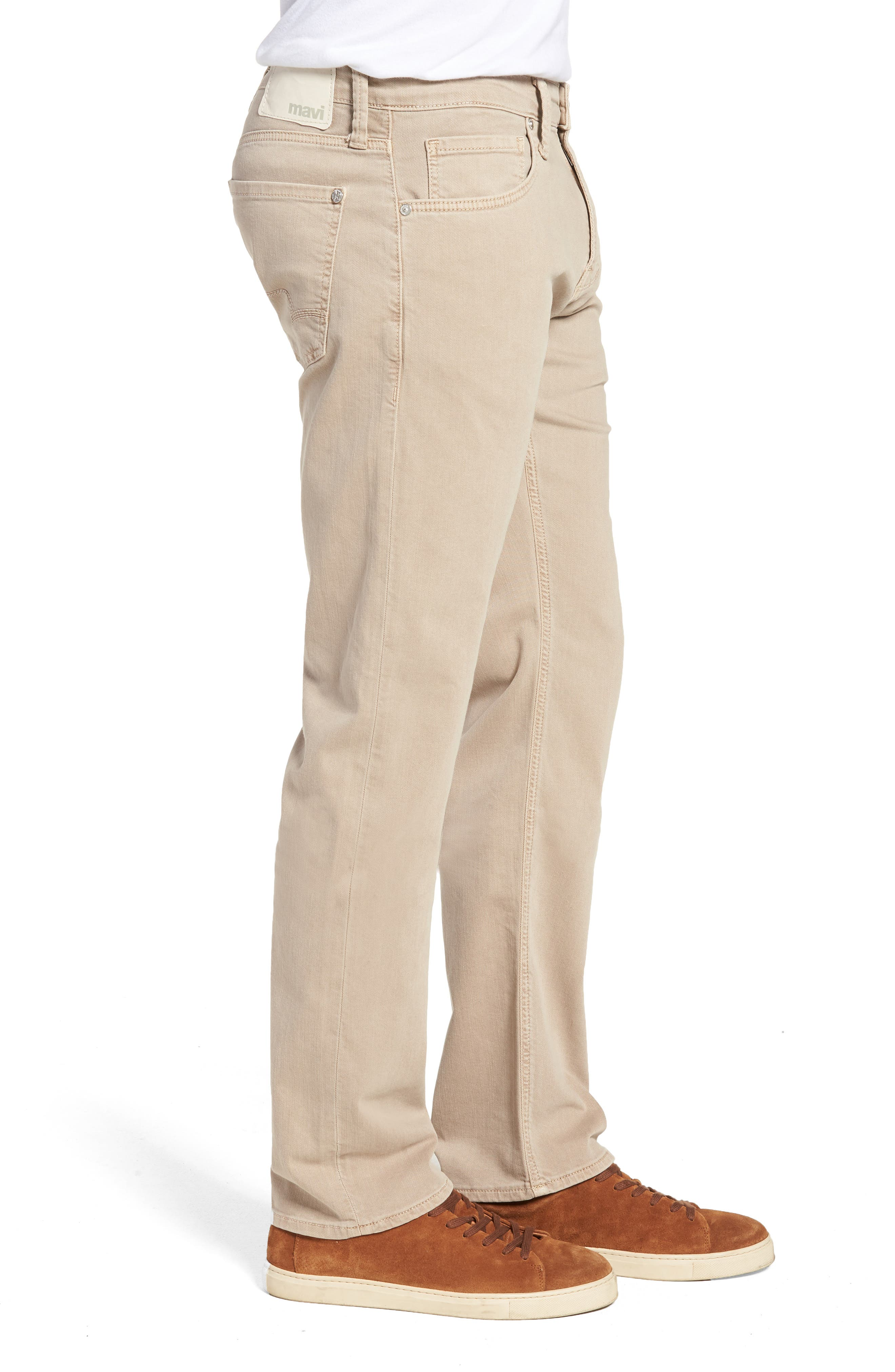 Zach Straight Leg Twill Pants,                             Alternate thumbnail 3, color,                             TAN WASHED