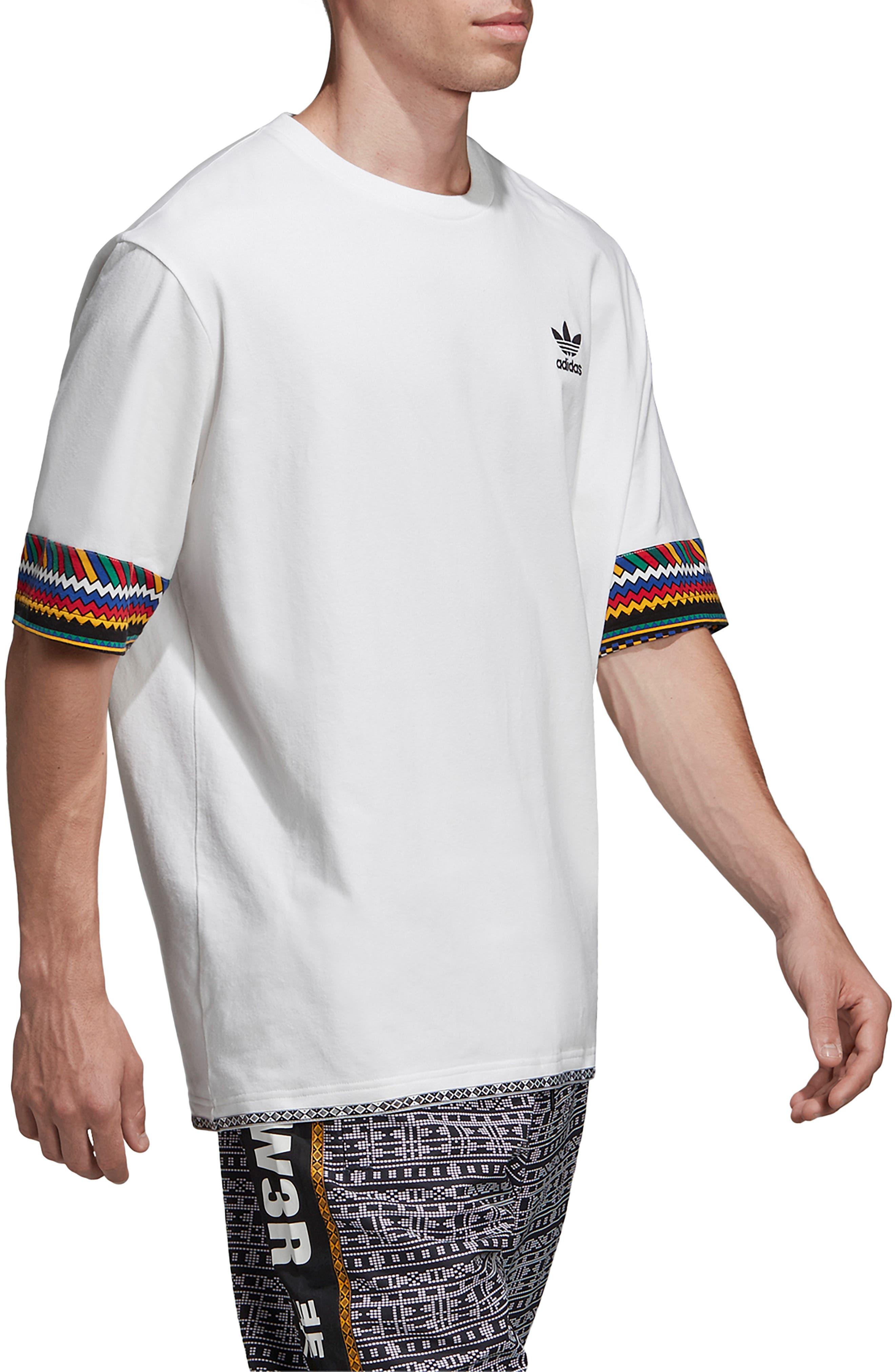by Pharrell Williams Hu Solar Trefoil T-Shirt,                             Alternate thumbnail 8, color,                             100