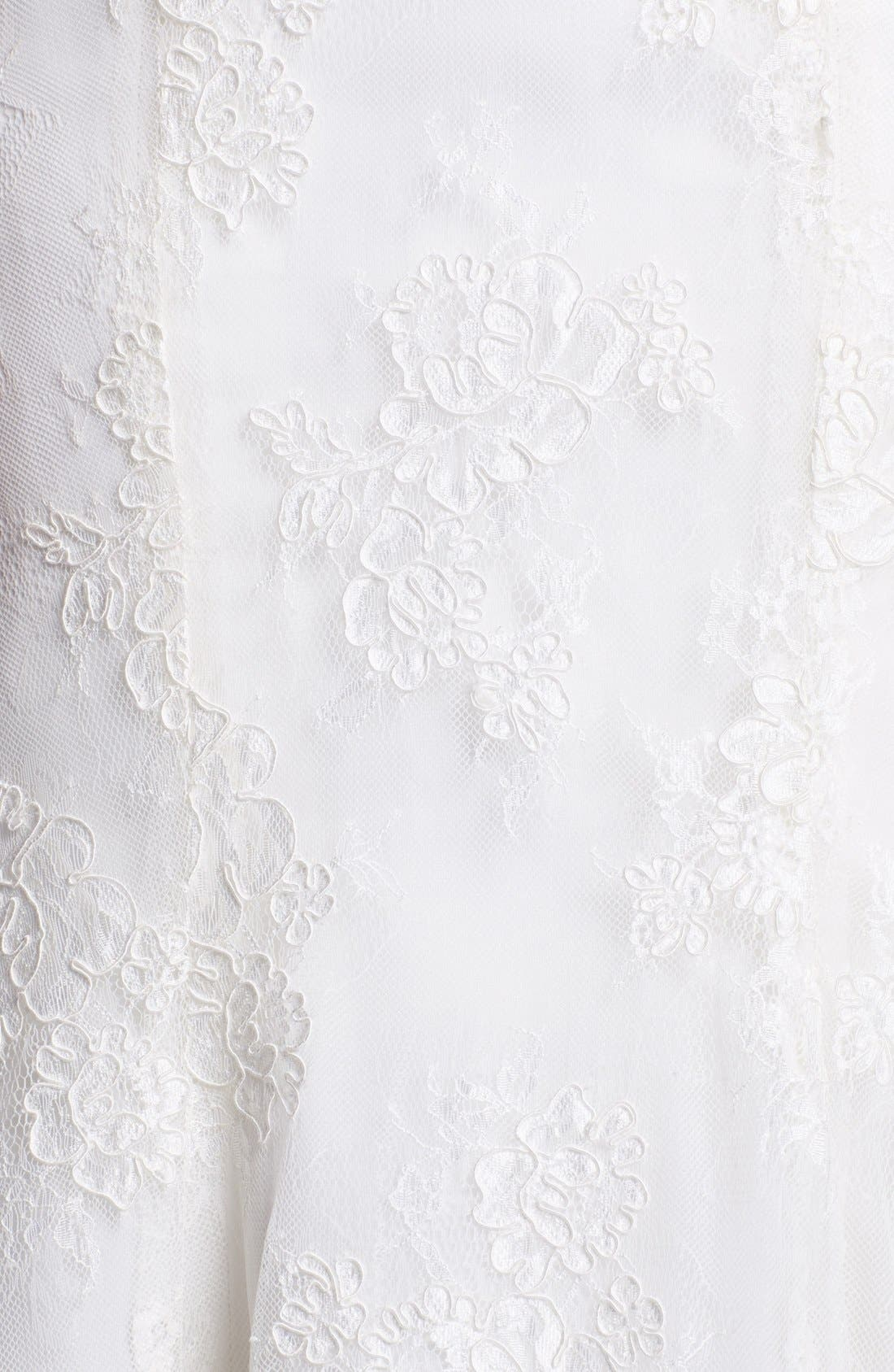 Embroidered Lace Trumpet Dress,                             Alternate thumbnail 5, color,                             900
