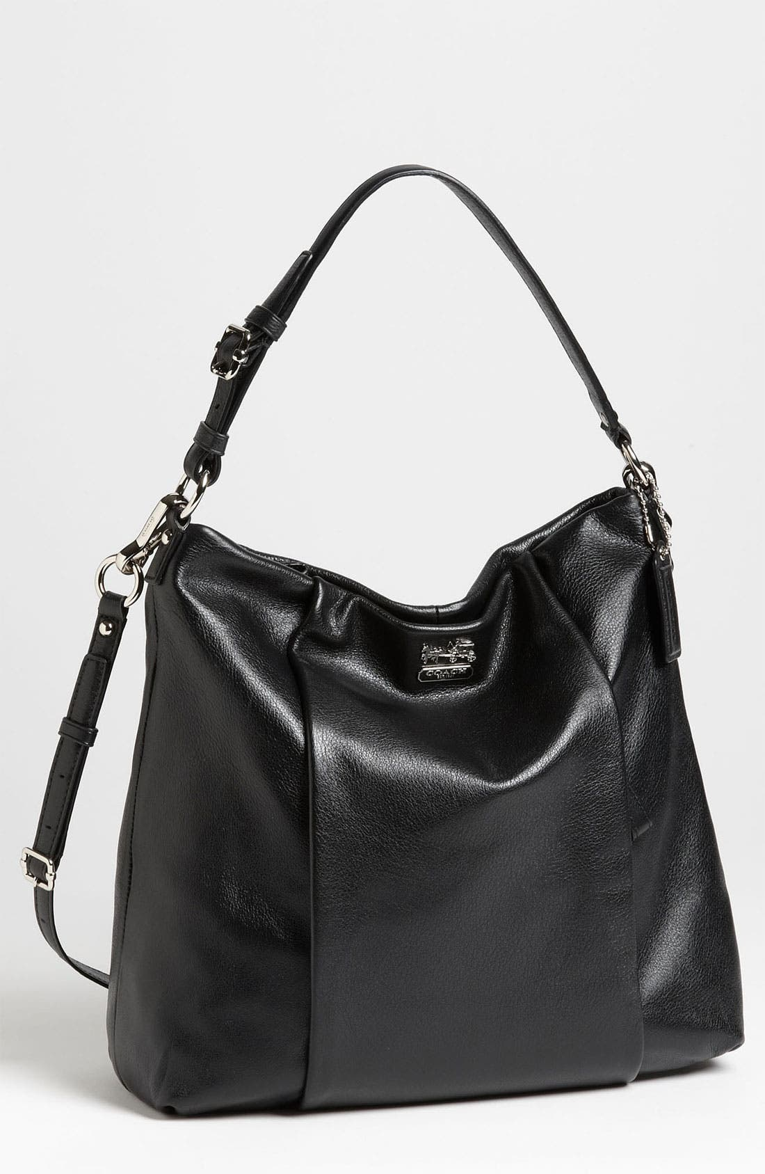 COACH,                             'New Madison - Isabelle' Leather Shoulder Bag,                             Main thumbnail 1, color,                             001