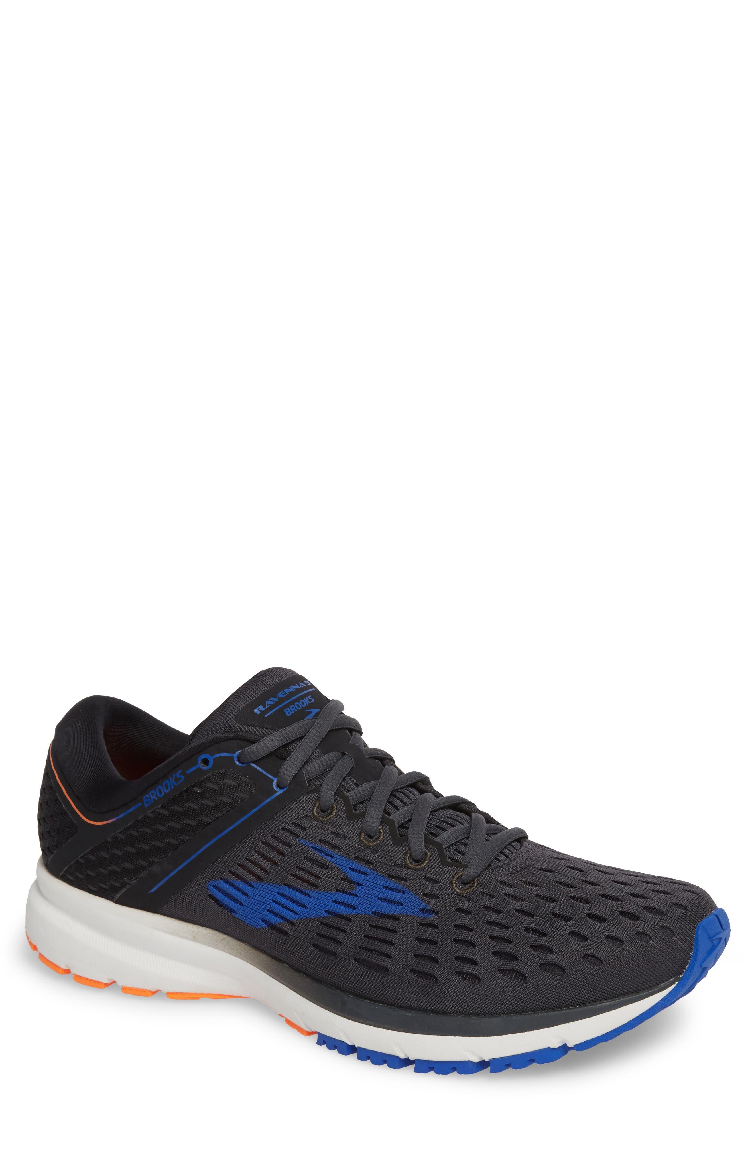 Ravenna 9 Running Shoe, Main, color, EBONY/ BLUE/ ORANGE