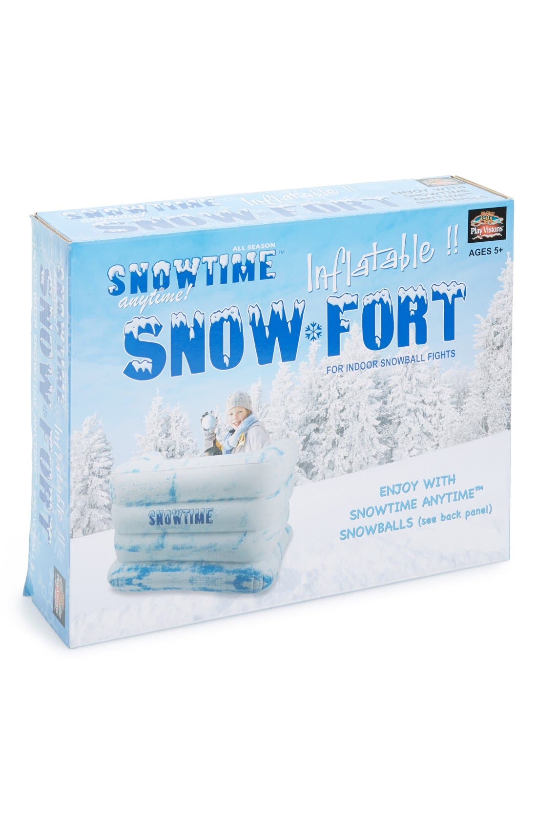 Snowtime Anytime Inflatable Snow Fort,                             Main thumbnail 1, color,                             100