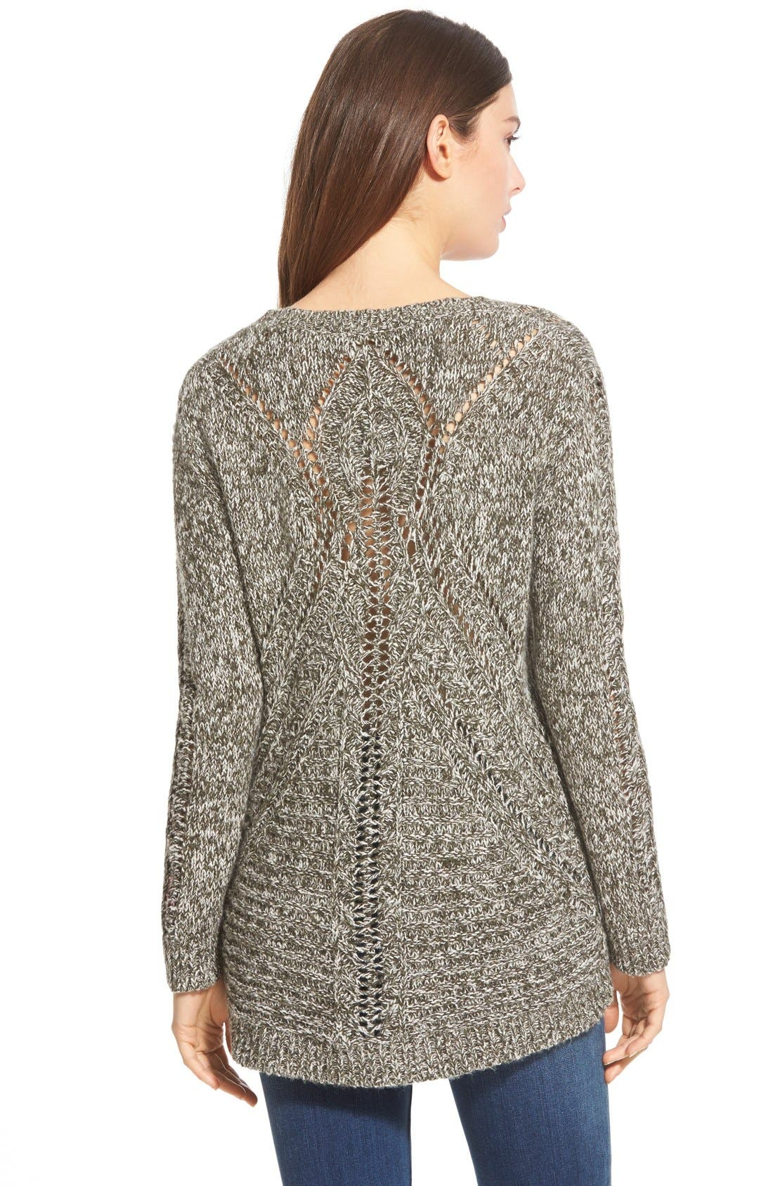 Back Detail Sweater,                             Alternate thumbnail 3, color,                             300