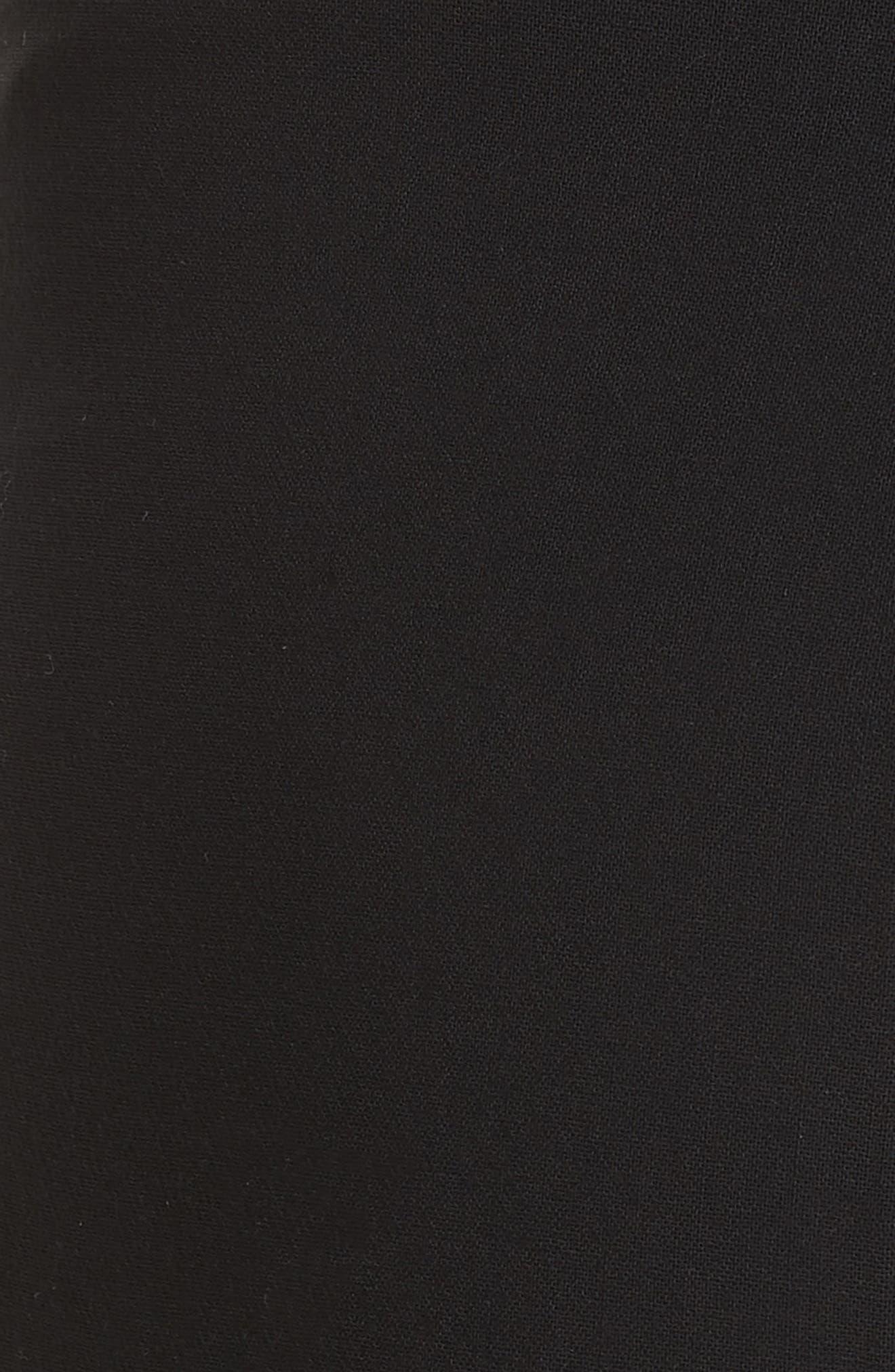 Farrah Stretch Wool Flare Pants,                             Alternate thumbnail 5, color,                             BLACK
