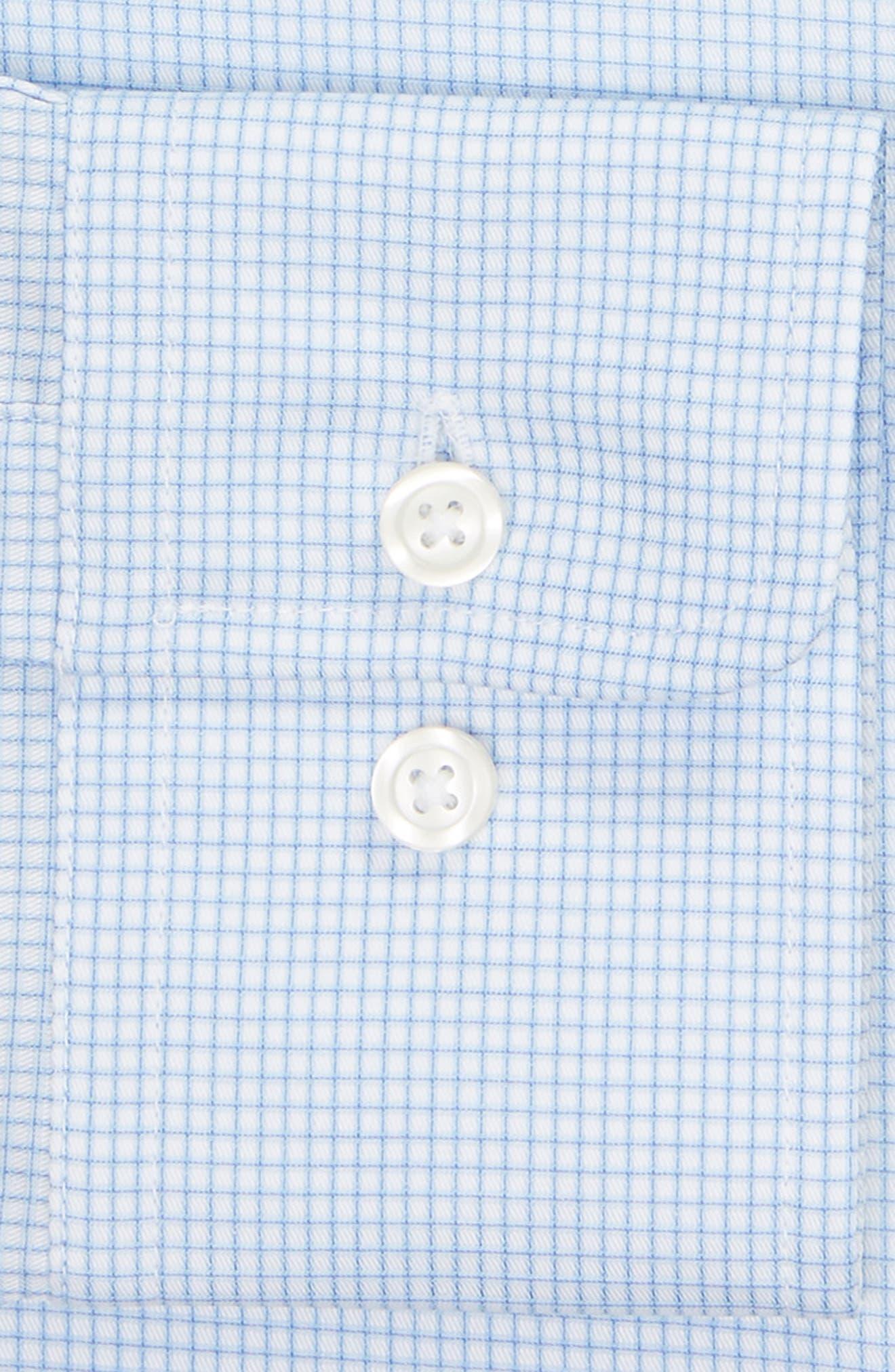 Classic Fit Check Dress Shirt,                             Alternate thumbnail 6, color,                             BLUE
