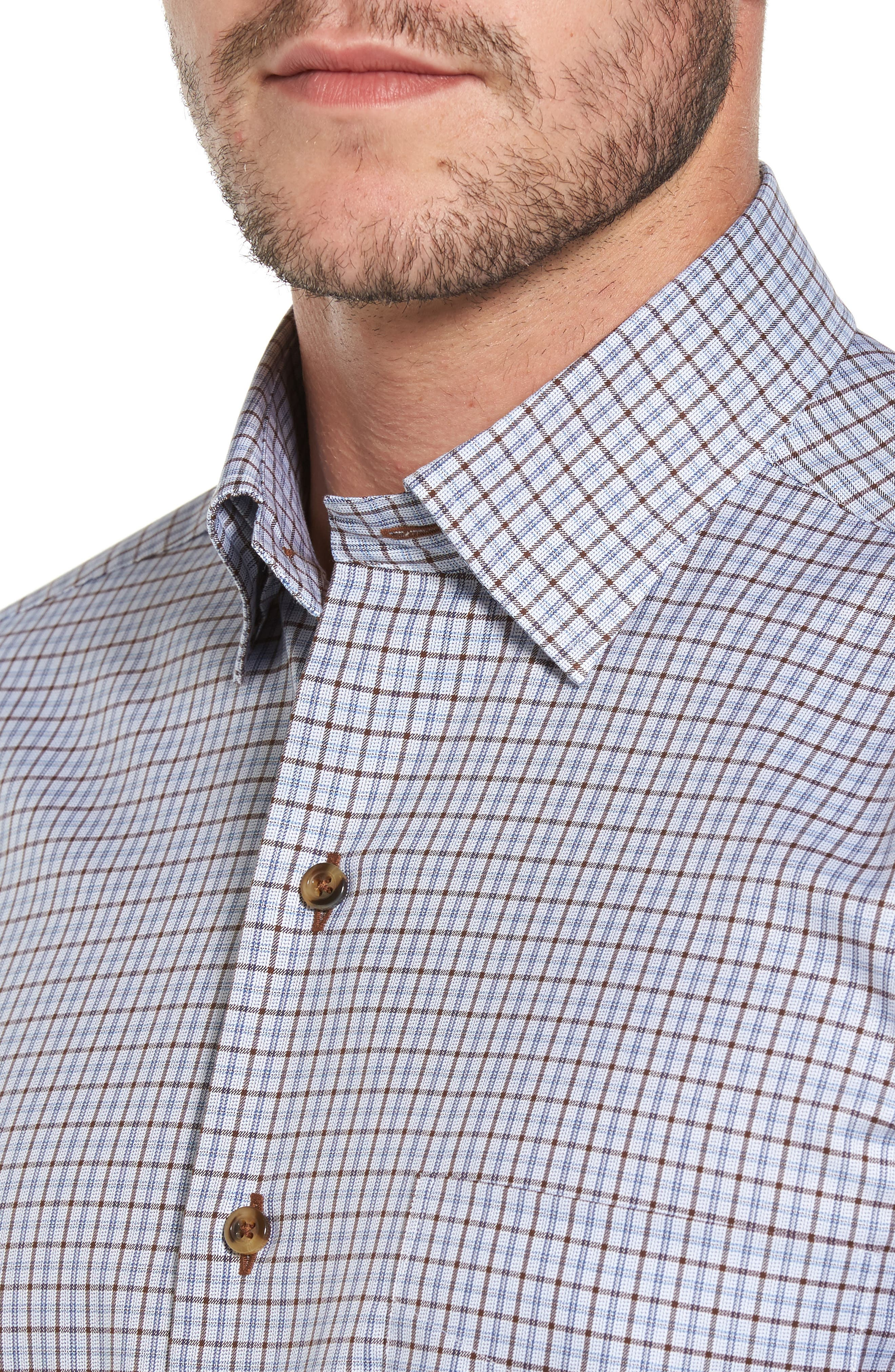 Plaid Regular Fit Sport Shirt,                             Alternate thumbnail 4, color,                             212