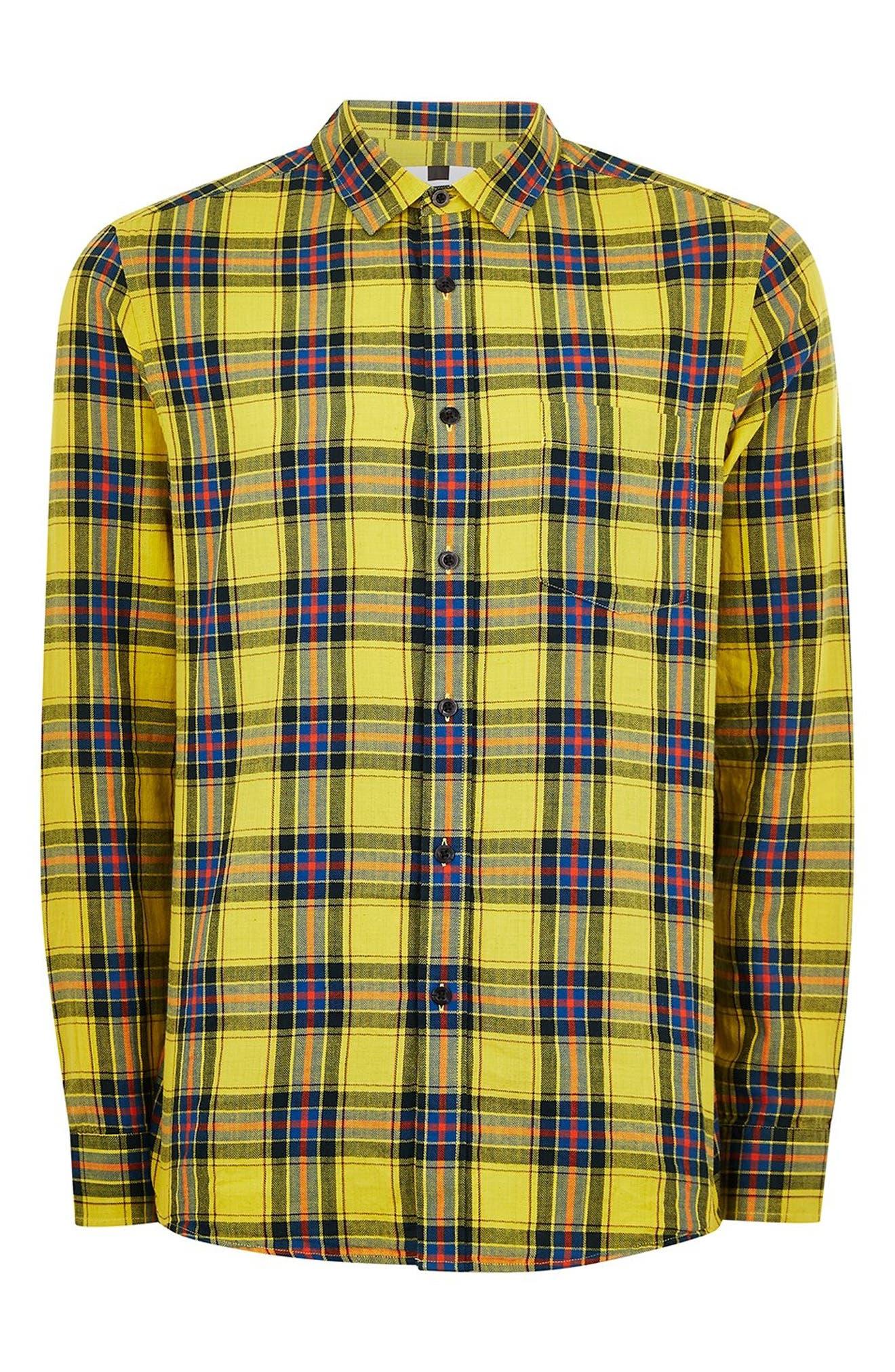 Check Shirt,                             Alternate thumbnail 4, color,                             YELLOW