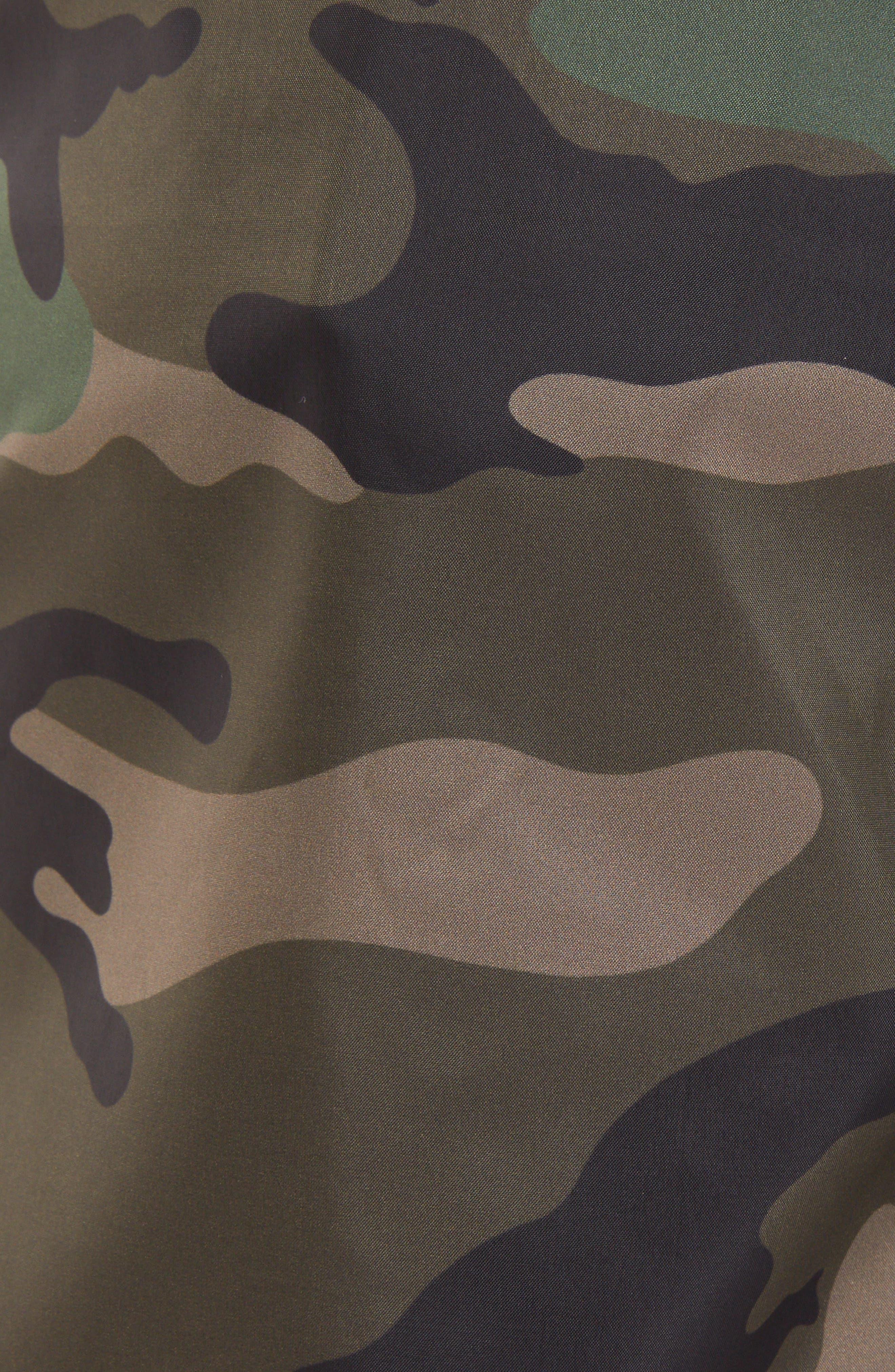 VLTN Camo Swim Trunks,                             Alternate thumbnail 5, color,                             CAMOU ARMY